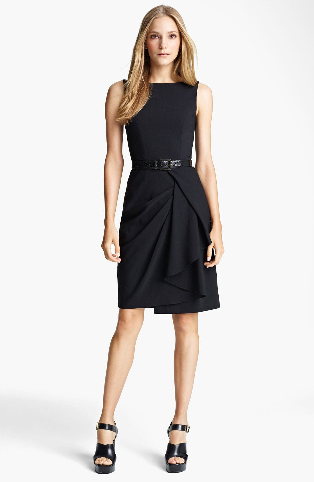 Alternate Image 1 Selected - Michael Kors Lightweight Crepe Sheath Dress