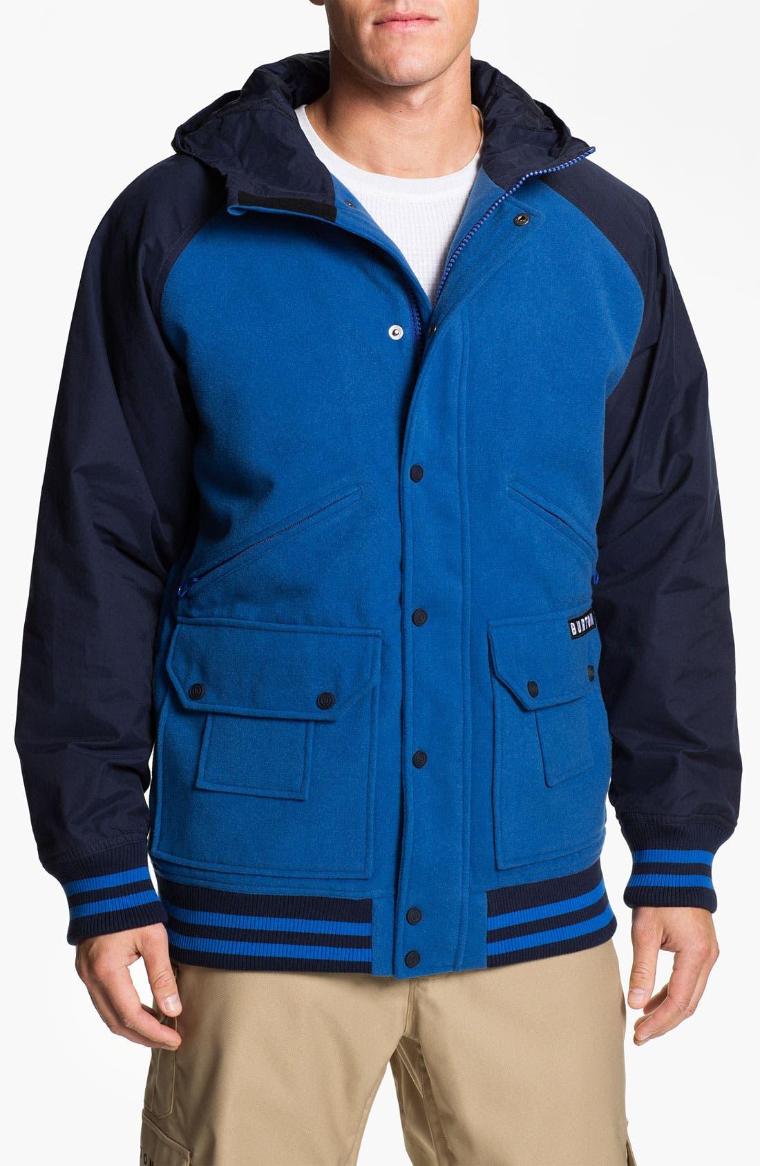 Main Image - Burton 'B-Side' Varsity Jacket