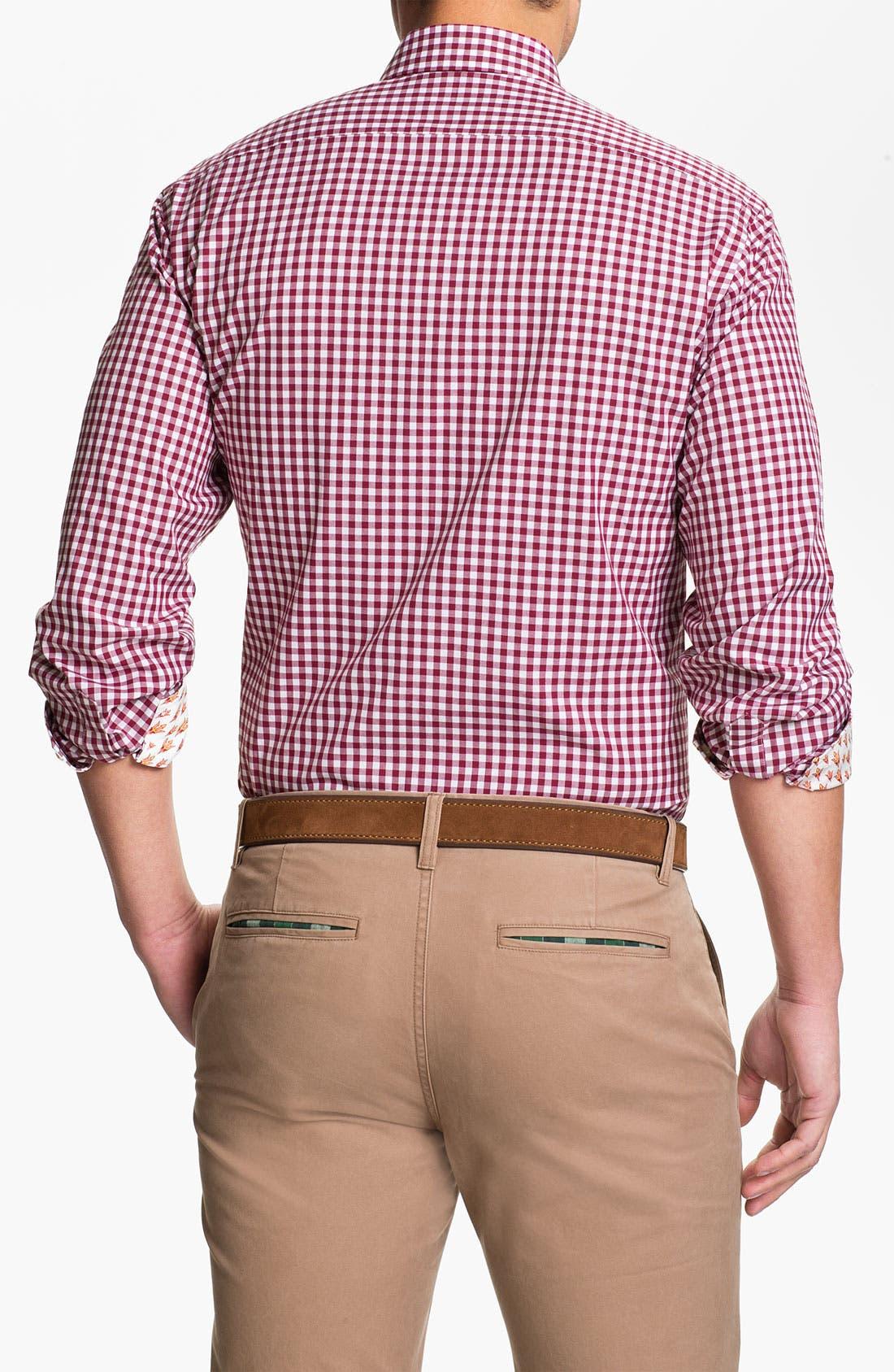 Alternate Image 2  - Thomas Dean 'Arizona State University' Traditional Fit Sport Shirt