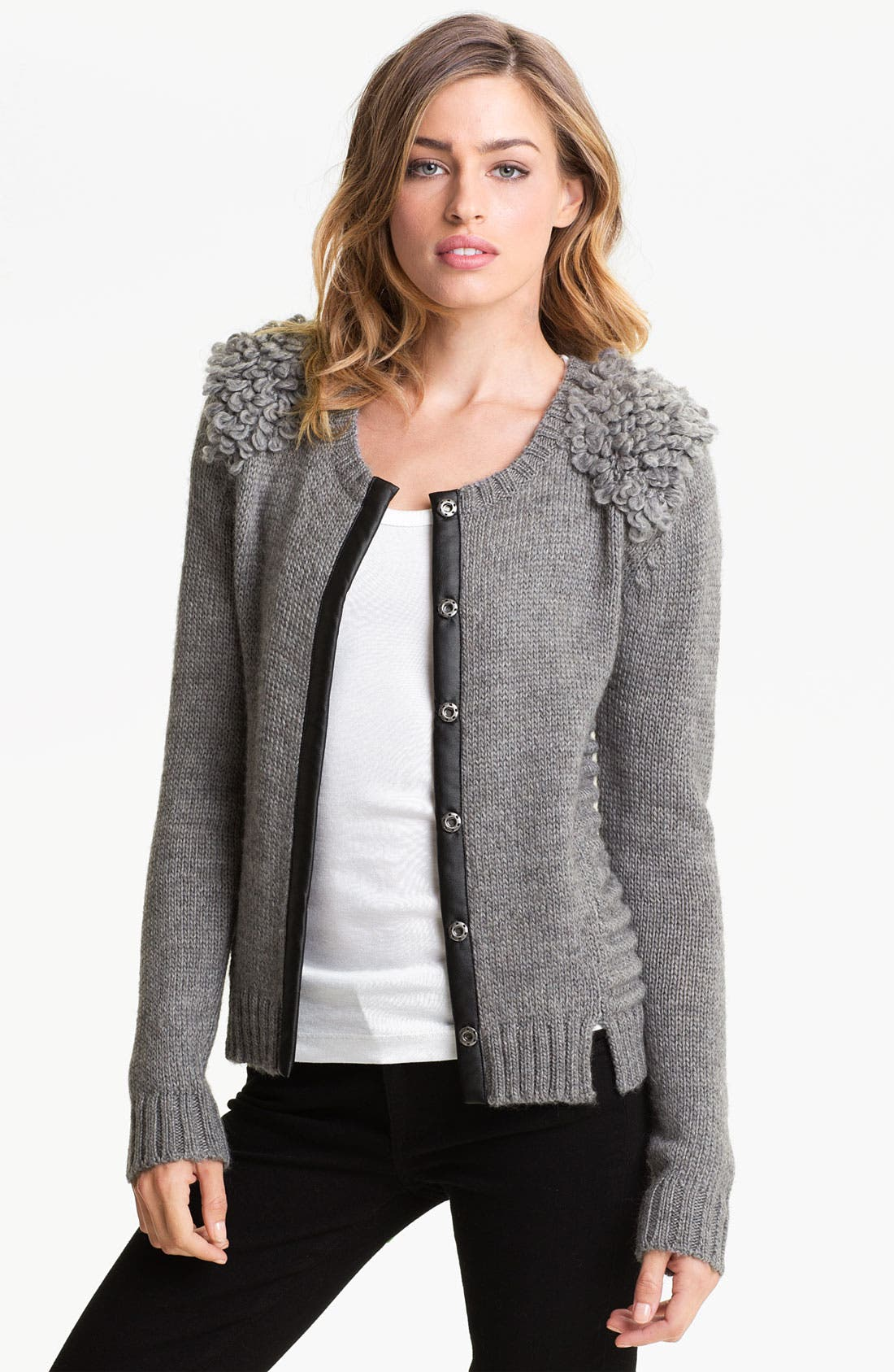 Main Image - Trouvé Loop Shoulder Cardigan