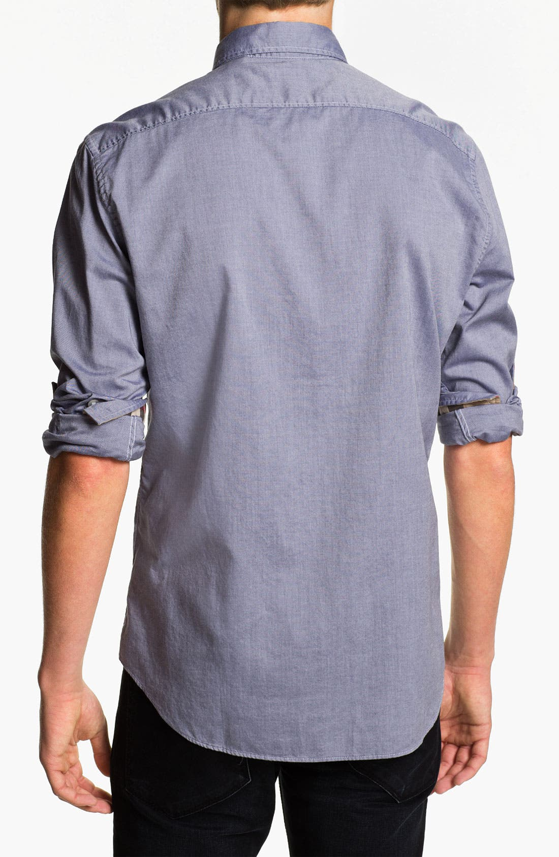 Alternate Image 2  - Burberry Brit Trim Fit Chambray Sport Shirt