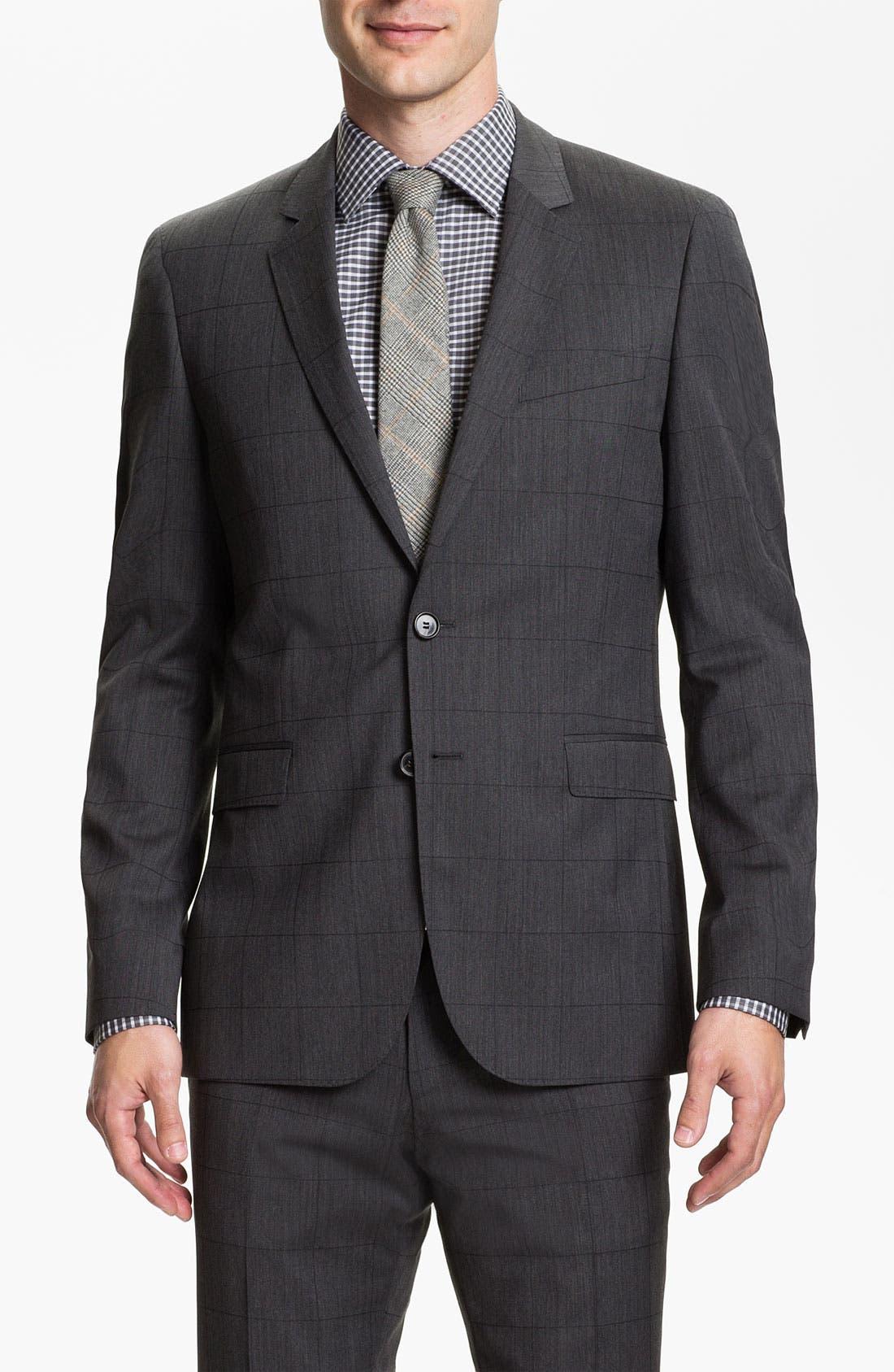 Alternate Image 1 Selected - BOSS HUGO BOSS 'Ryan/Win' Extra Trim Fit Suit