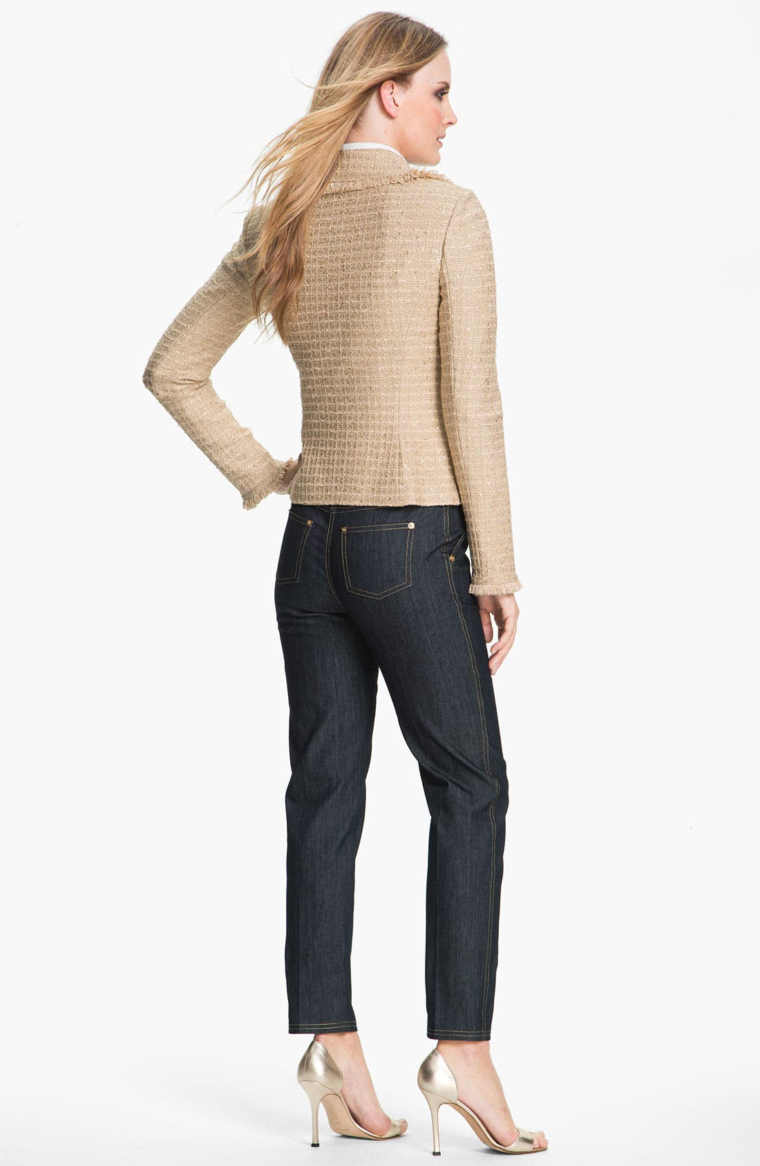 Alternate Image 4  - St. John Collection Lightweight Denim Crop Pants
