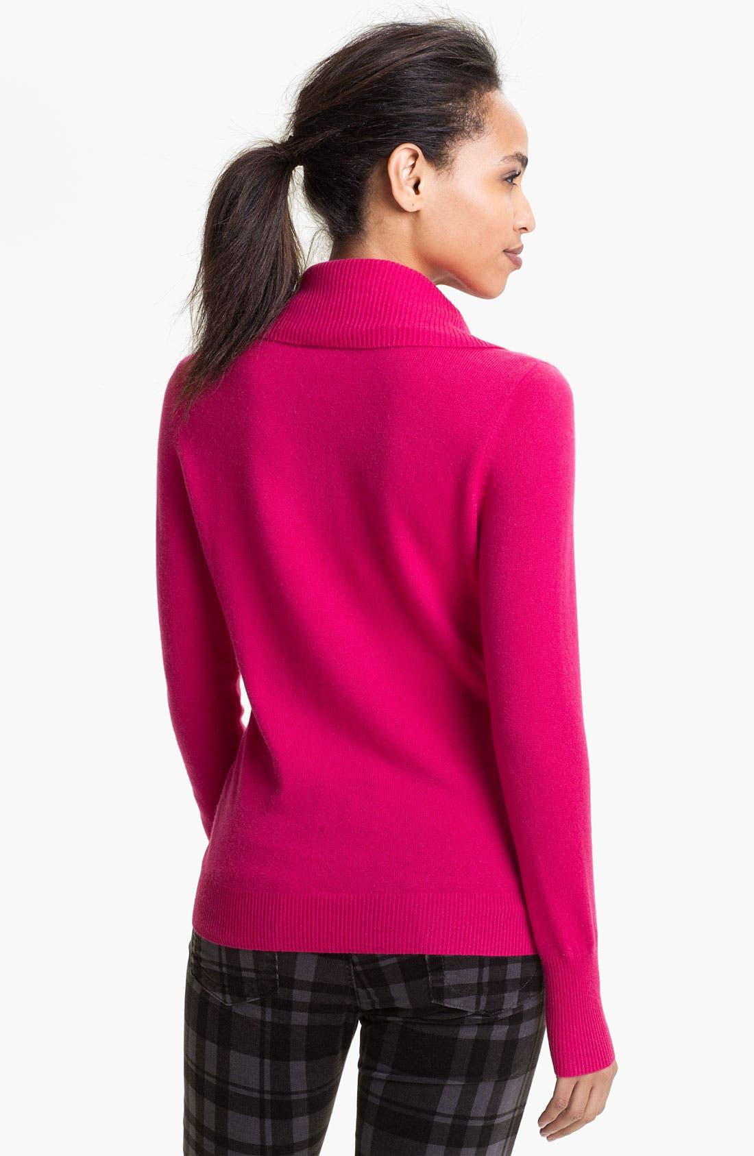 Alternate Image 2  - Halogen® Cowl Neck Cashmere Sweater