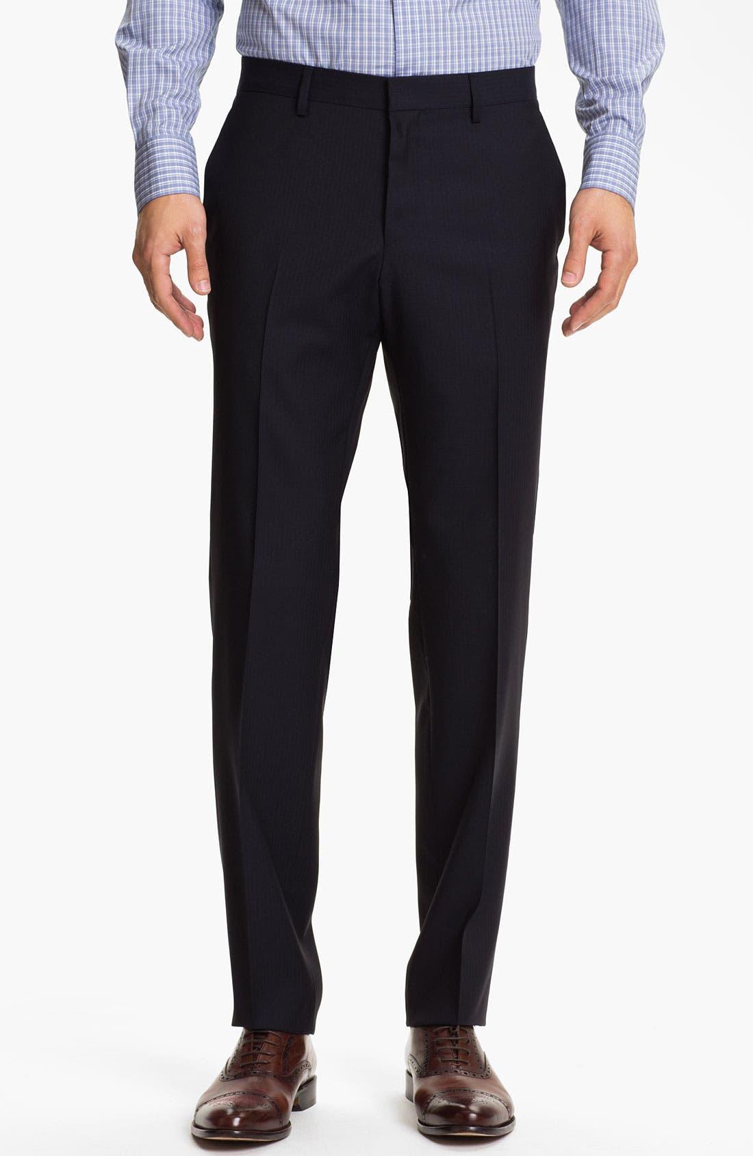 Alternate Image 4  - BOSS Black 'Hold/Genius' Trim Fit Three Piece Suit