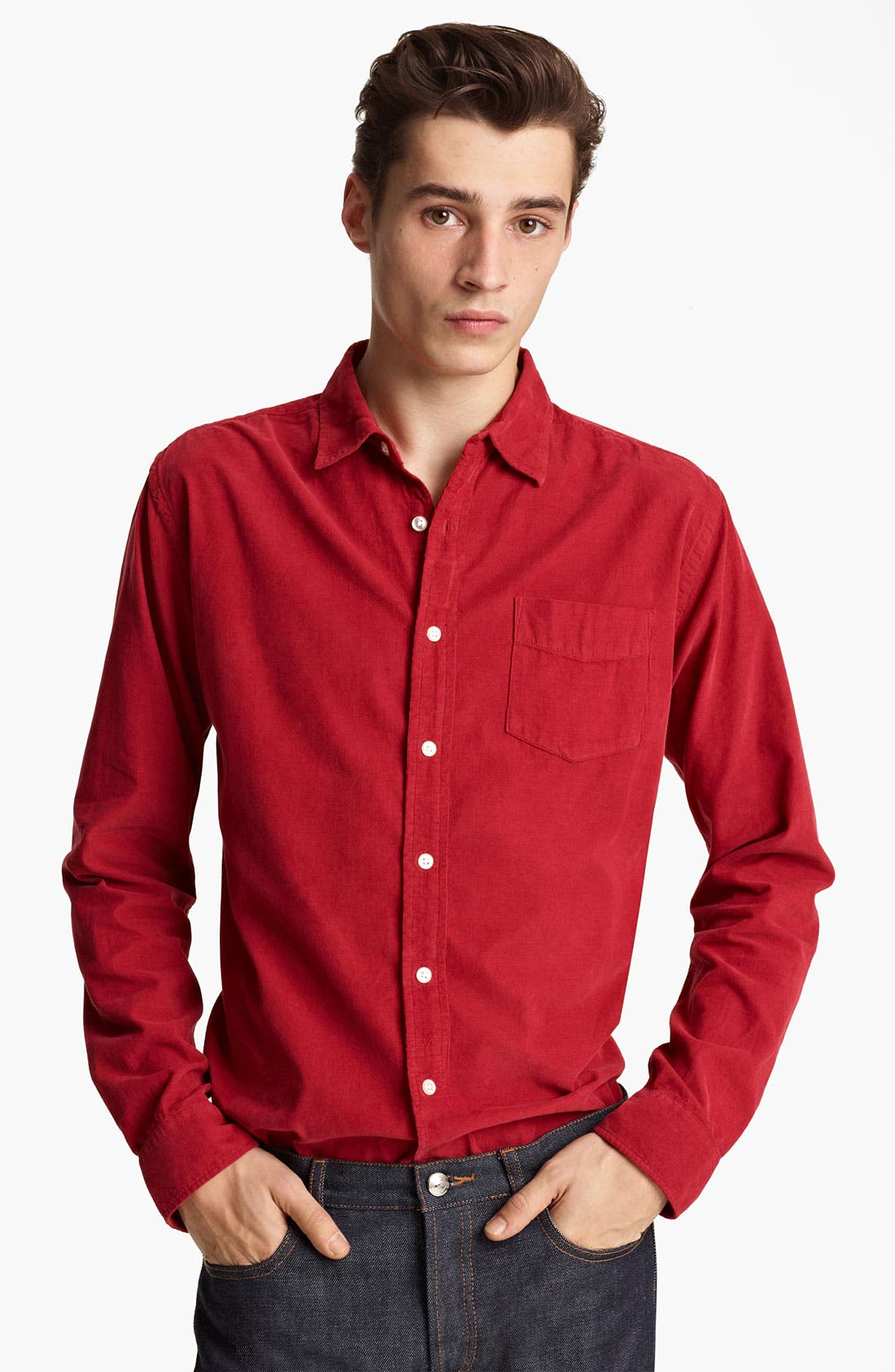 Alternate Image 1 Selected - Grayers Corduroy Sport Shirt