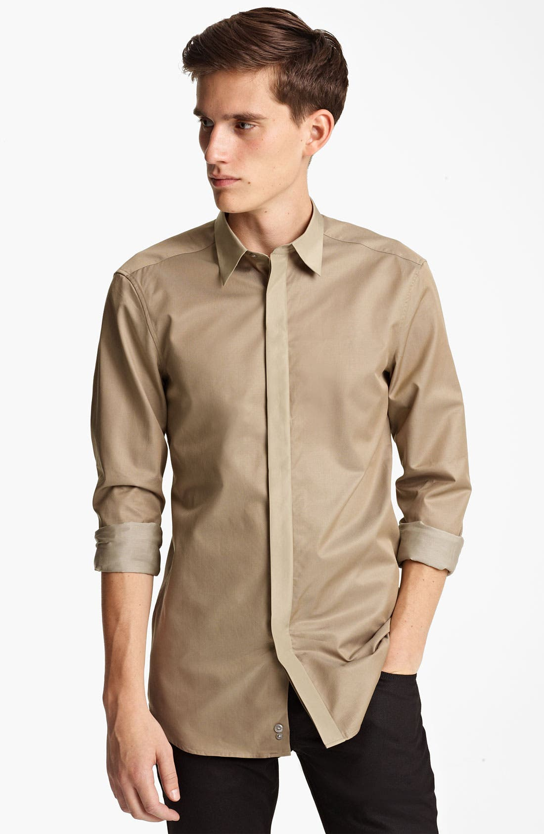 Alternate Image 1 Selected - Z Zegna Trim Fit Sport Shirt
