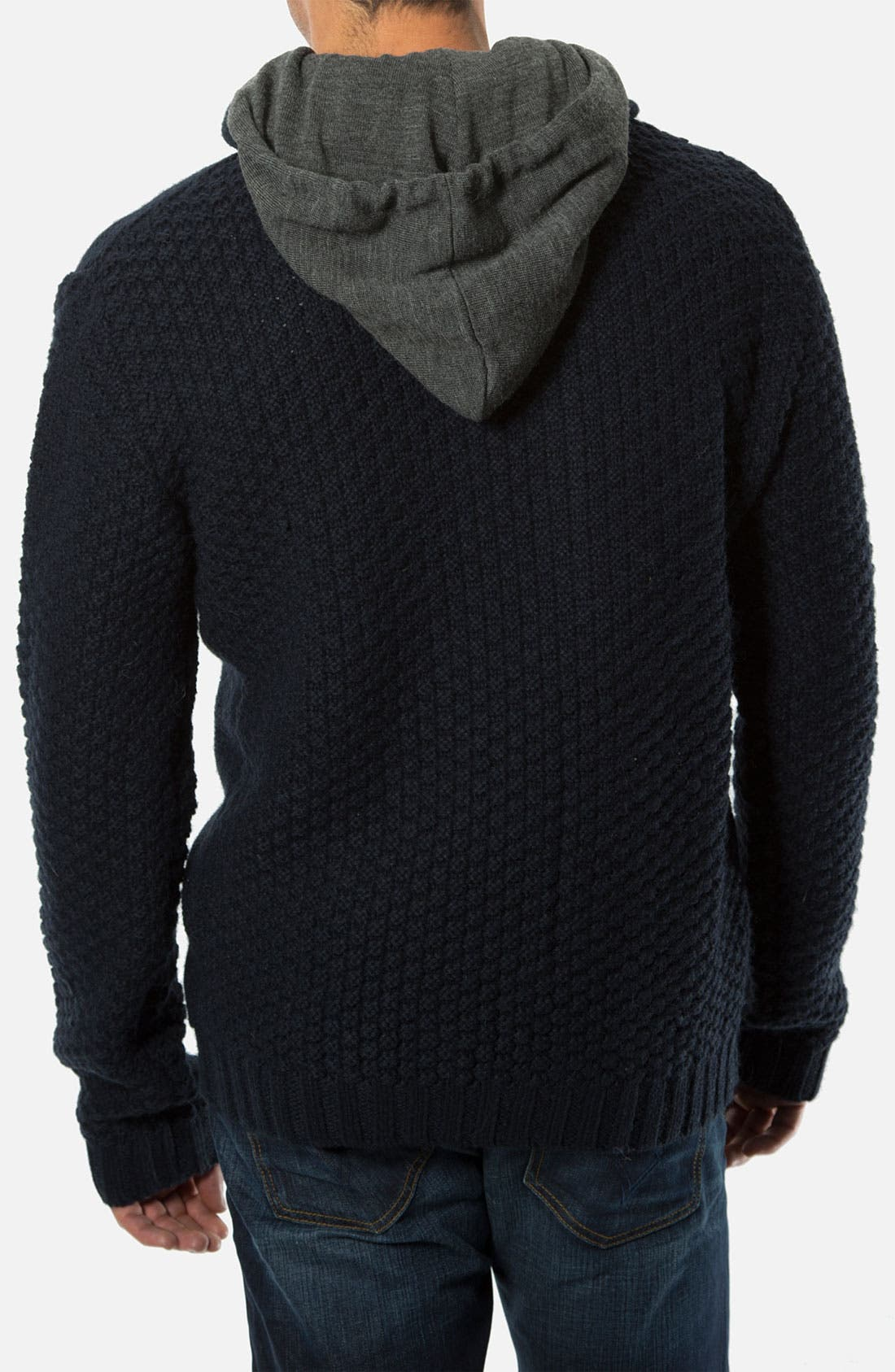 Alternate Image 2  - 7 Diamonds 'Portillo' Cable Knit Sweater with Removable Hood