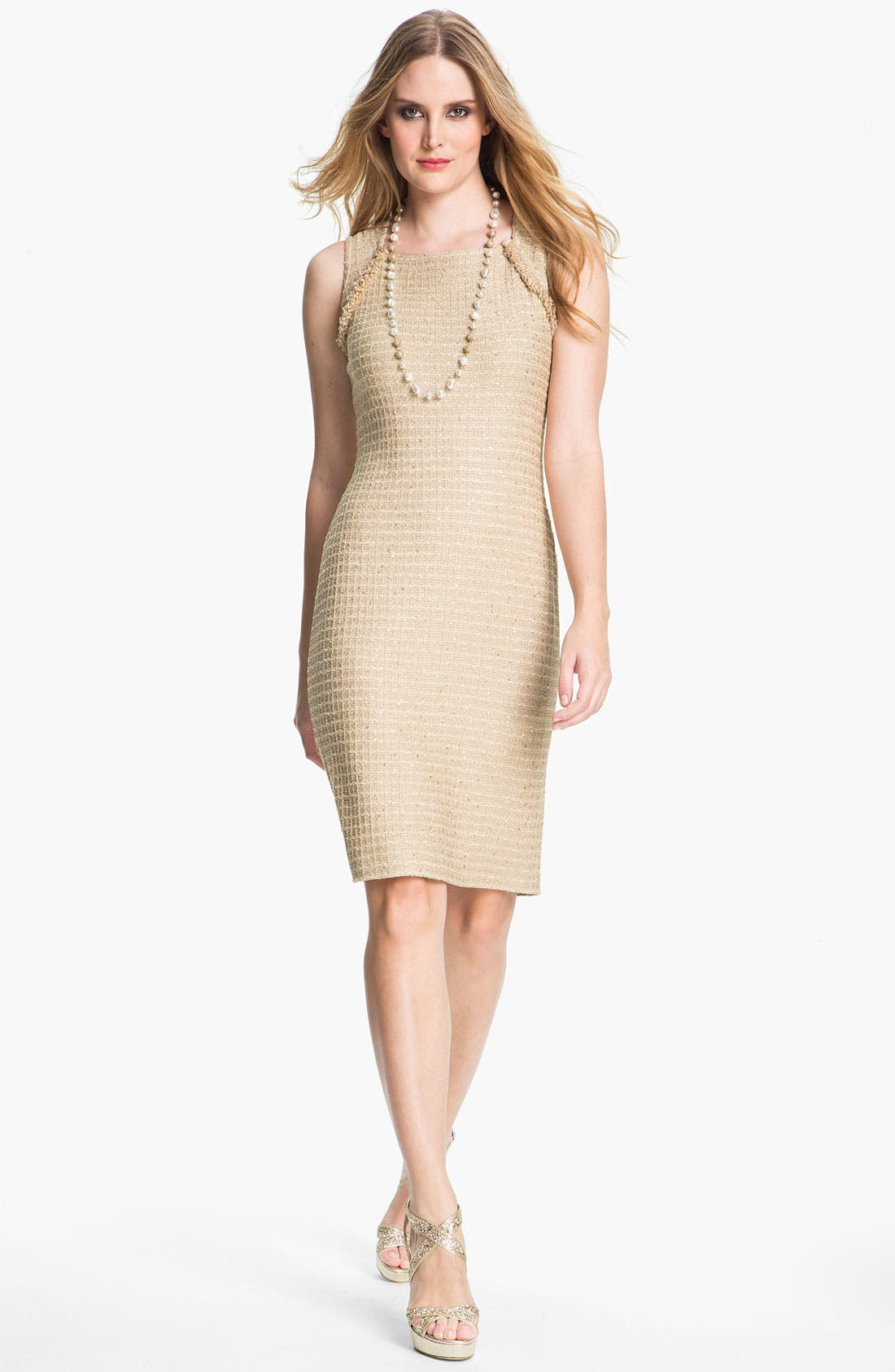 Main Image - St. John Collection Sequin Metallic Knit Dress