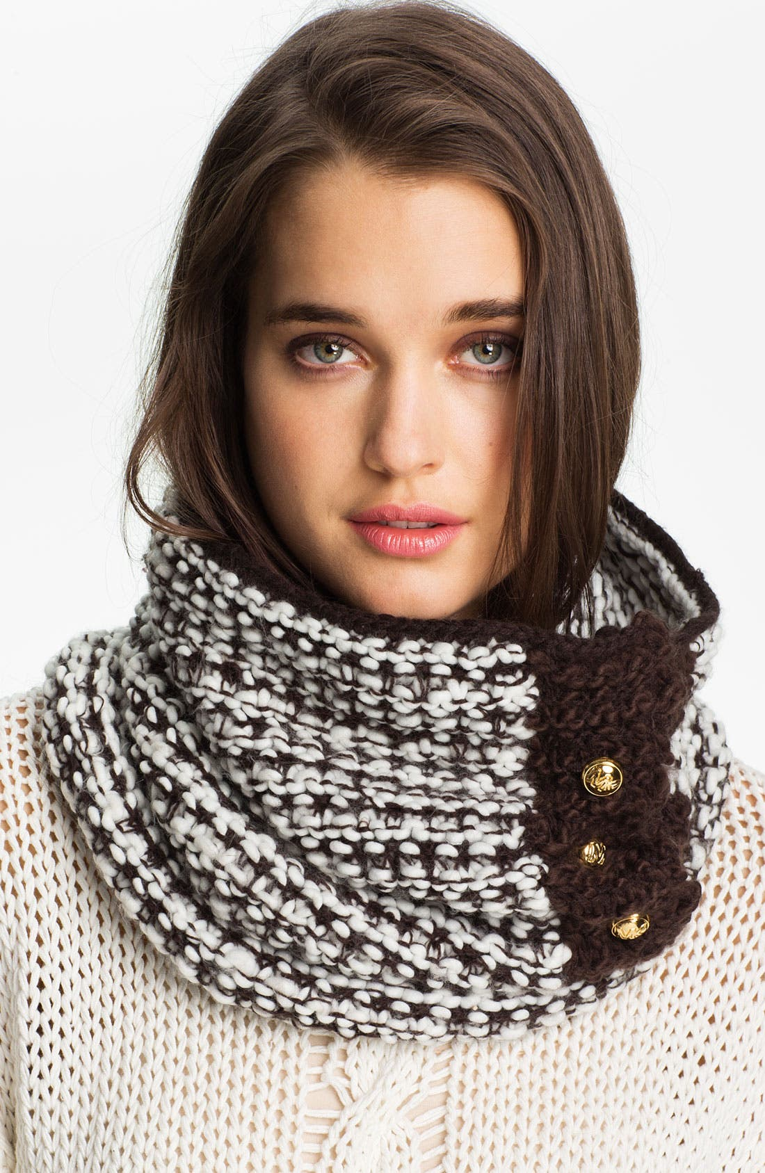Alternate Image 1 Selected - MICHAEL Michael Kors Three Button Neck Warmer