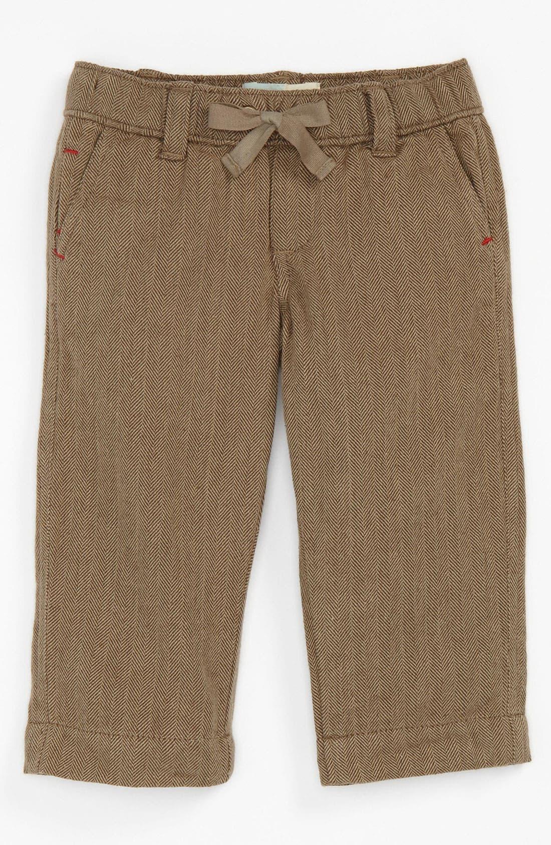 Alternate Image 1 Selected - Peek 'Homestead' Herringbone Pants (Infant)