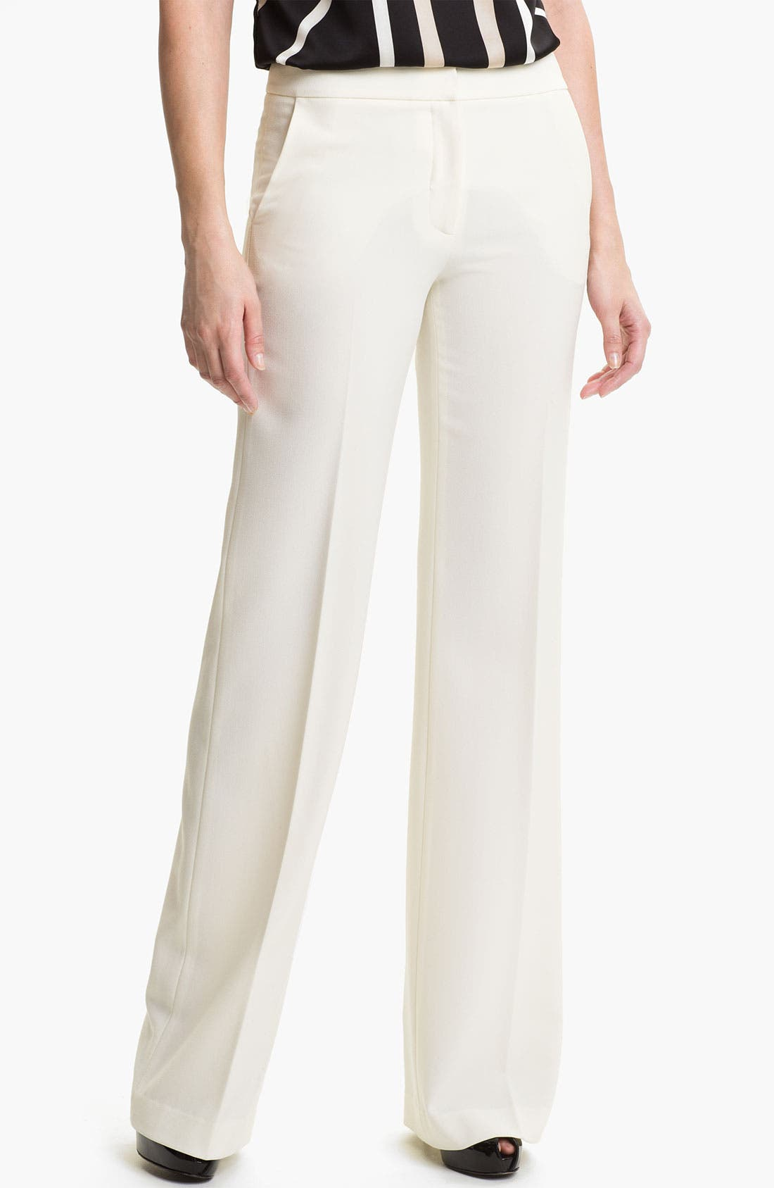 Alternate Image 1 Selected - Vince Camuto Wide Leg Crepe Pants