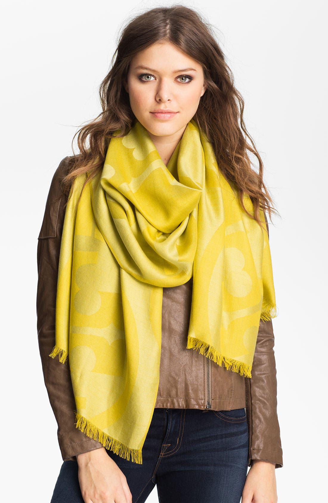 Alternate Image 1 Selected - Tory Burch 'T Belts' Jacquard Scarf