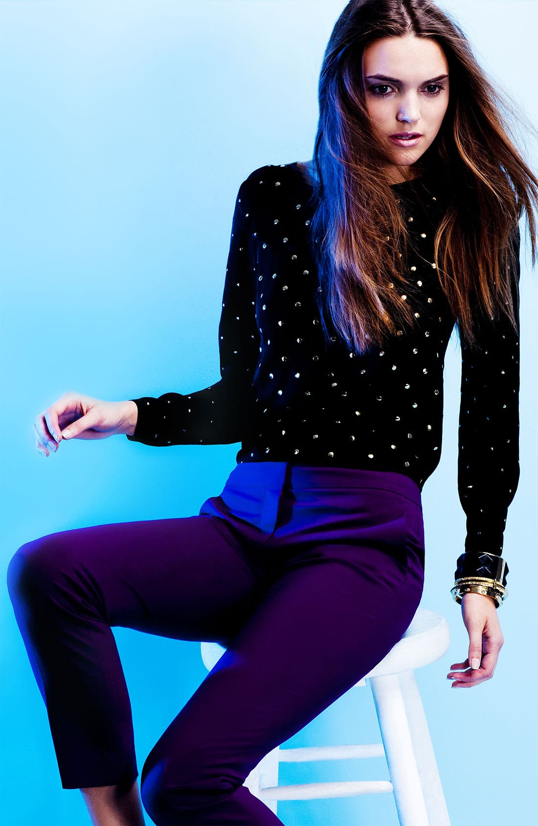 Main Image - Vince Camuto Embellished Blouse & Ankle Pants