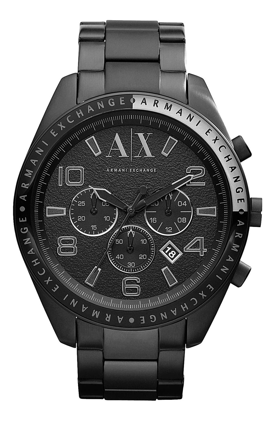 Main Image - AX Armani Exchange Round Bracelet Watch, 47mm