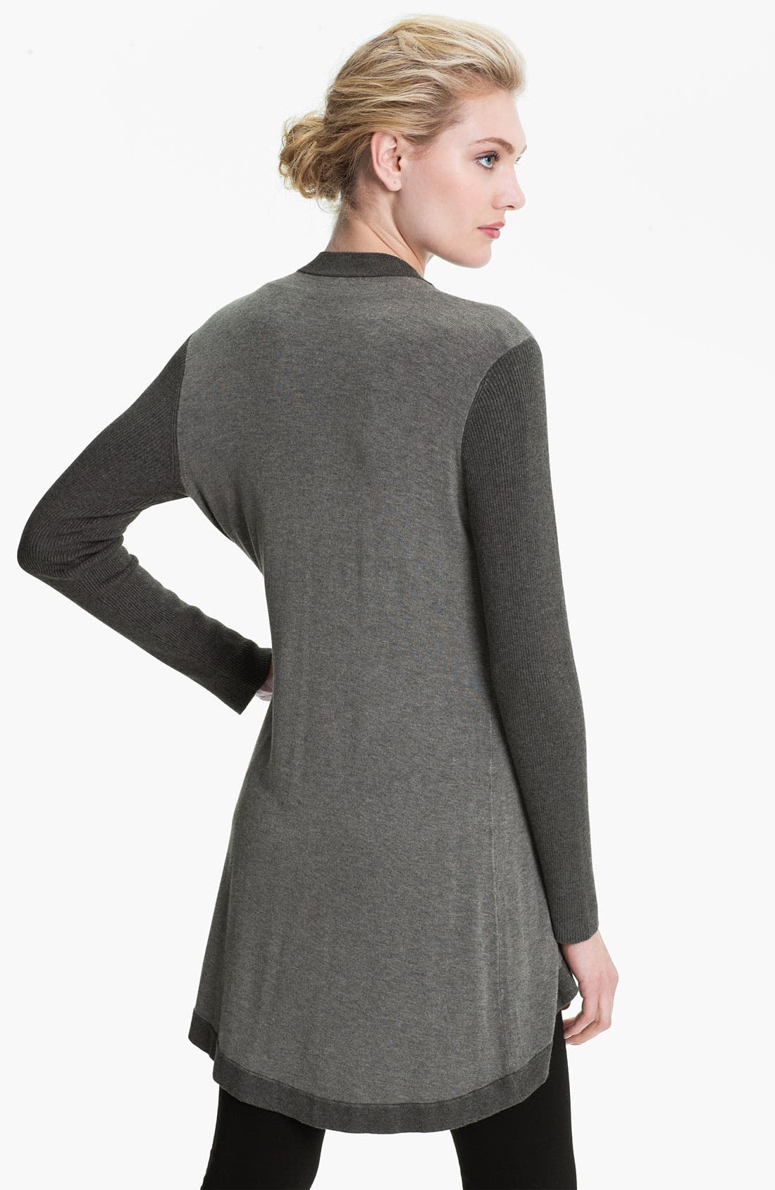 Alternate Image 2  - Eileen Fisher Angled Front Cardigan (Online Exclusive)