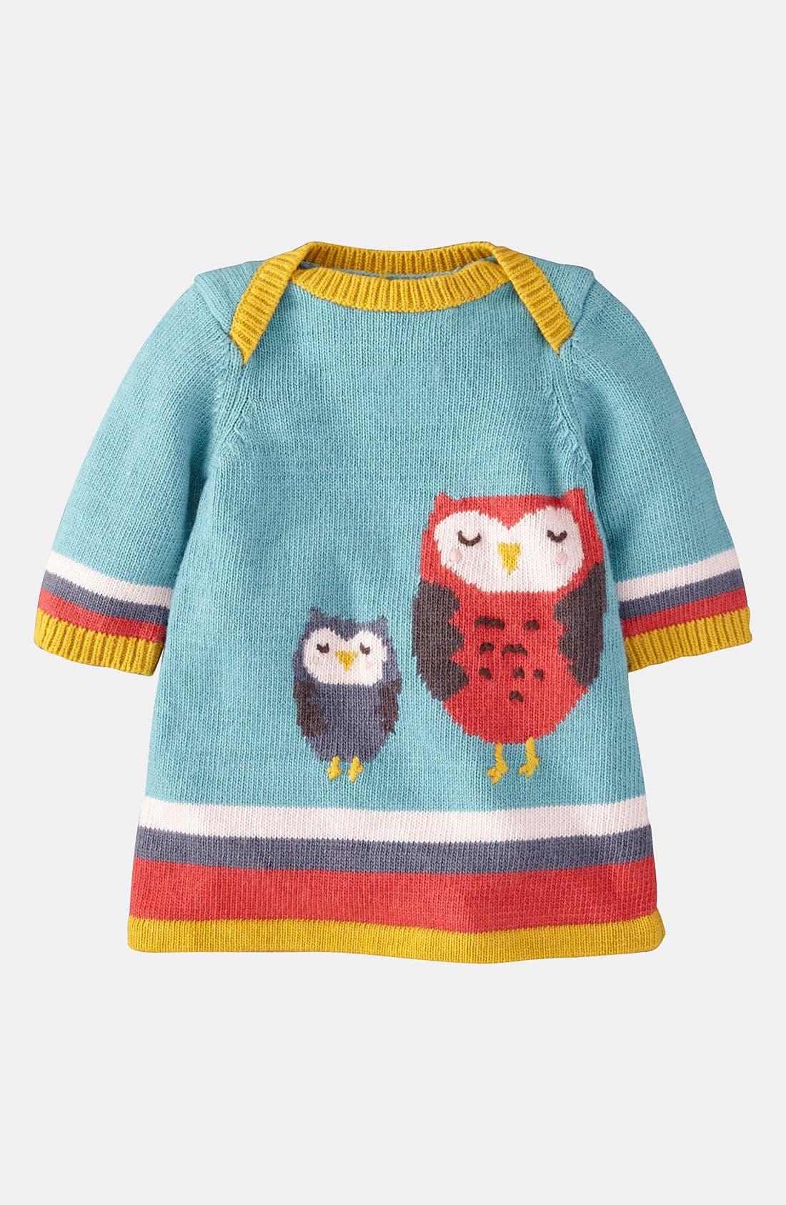 'My Baby' Knit Dress,                         Main,                         color, Powder Blue/ Owls