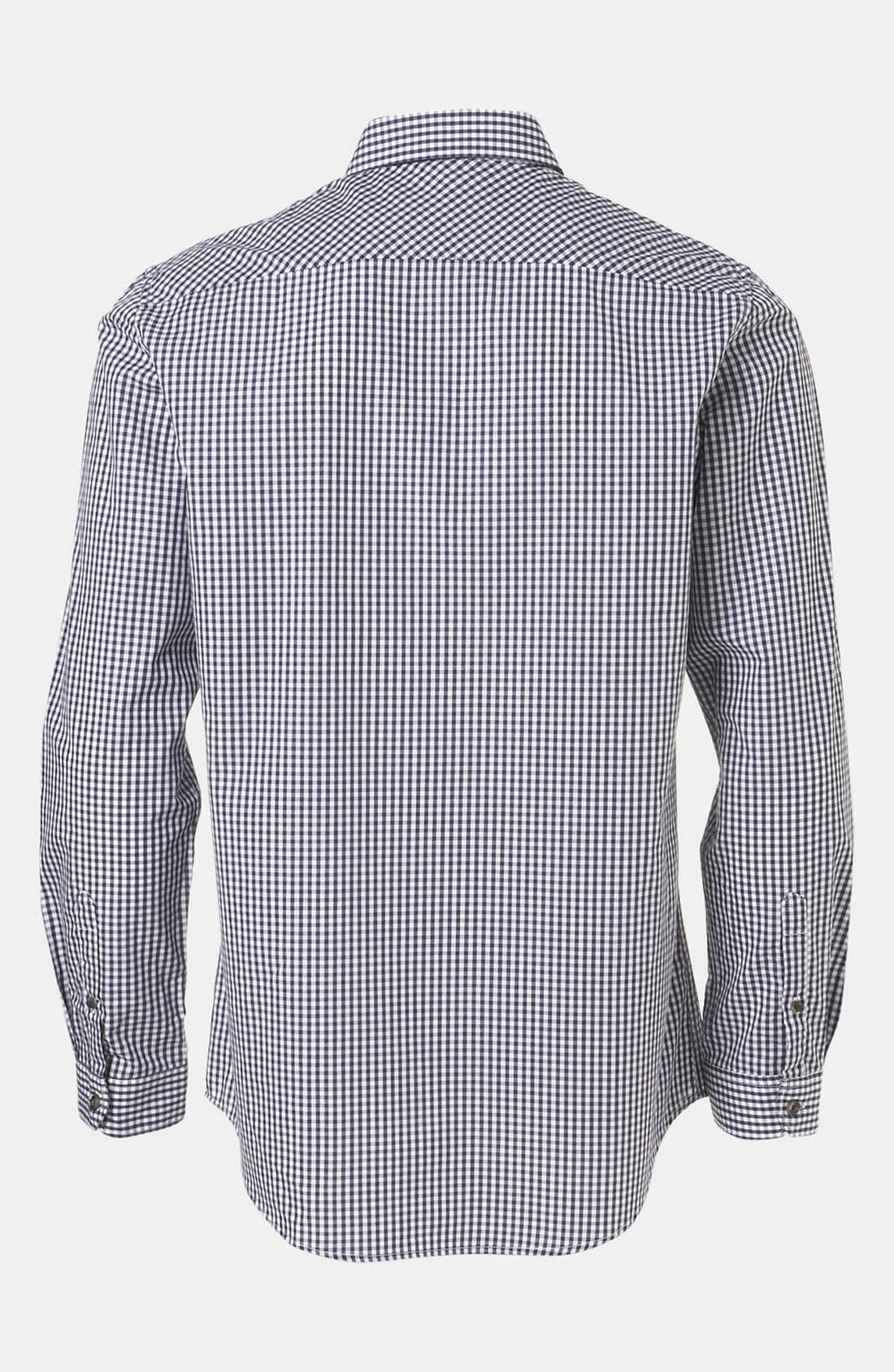 Alternate Image 2  - Topman Extra Trim Gingham Check Shirt