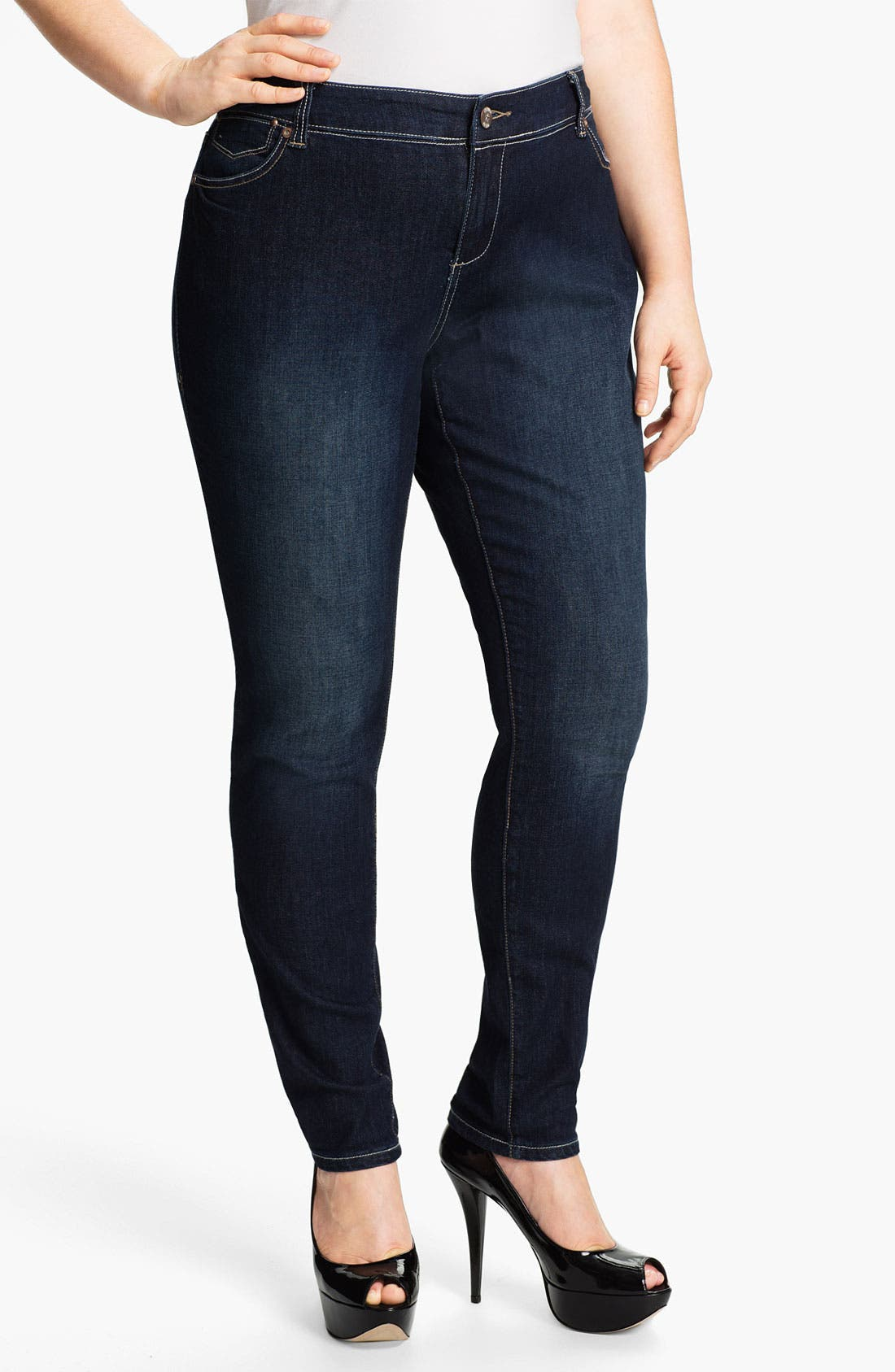 Alternate Image 1 Selected - Mynt 1792 'Tribeca' Skinny Jeans (Plus)