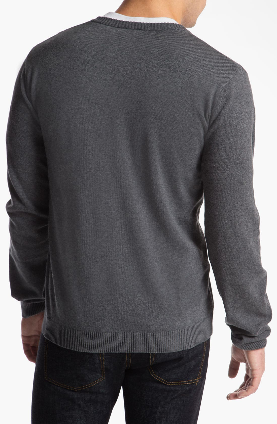Alternate Image 2  - Lacoste 'Classic' V-Neck Sweater
