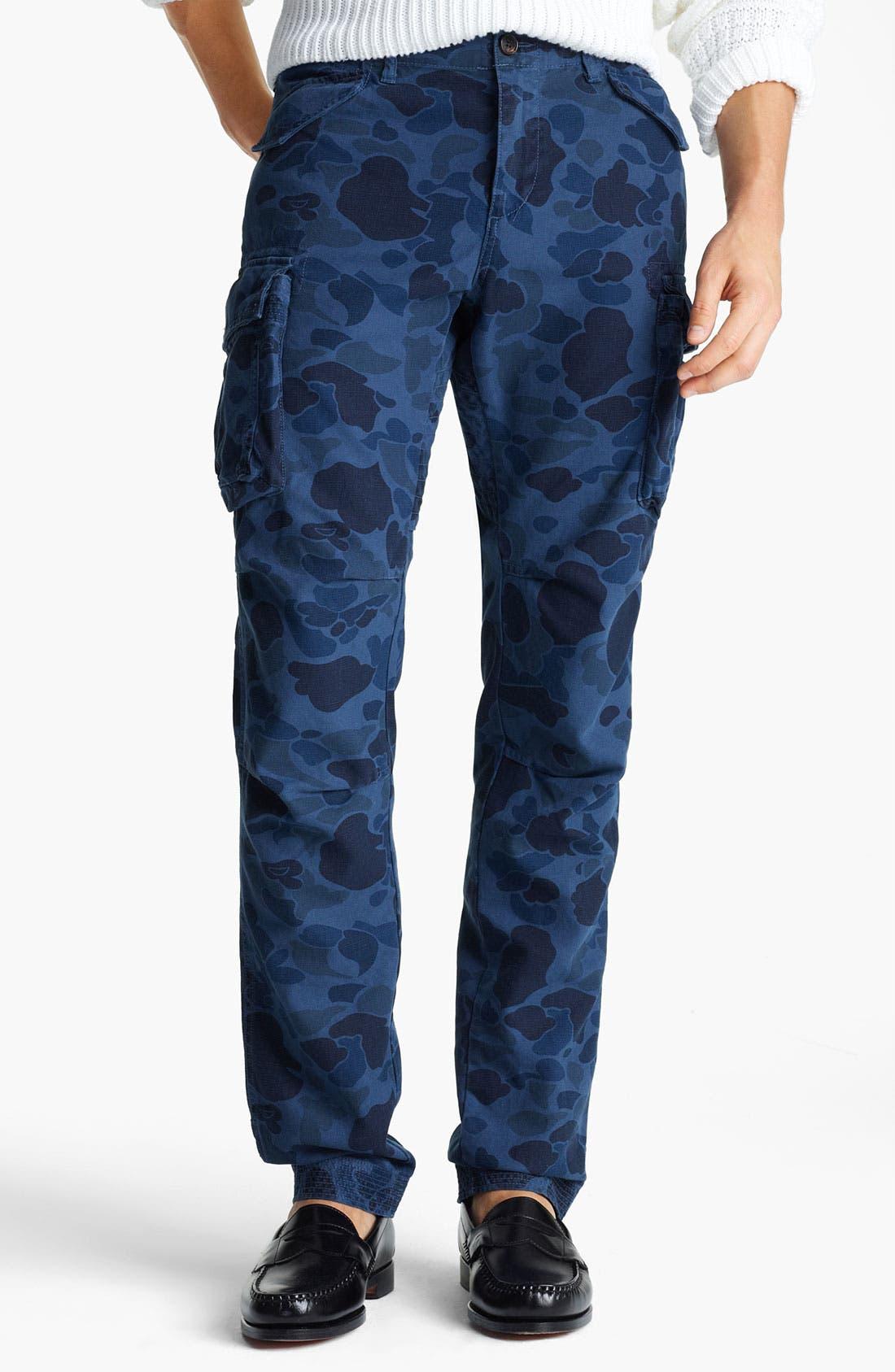 Alternate Image 1 Selected - Gant by Michael Bastian Skinny Camo Cargo Pants