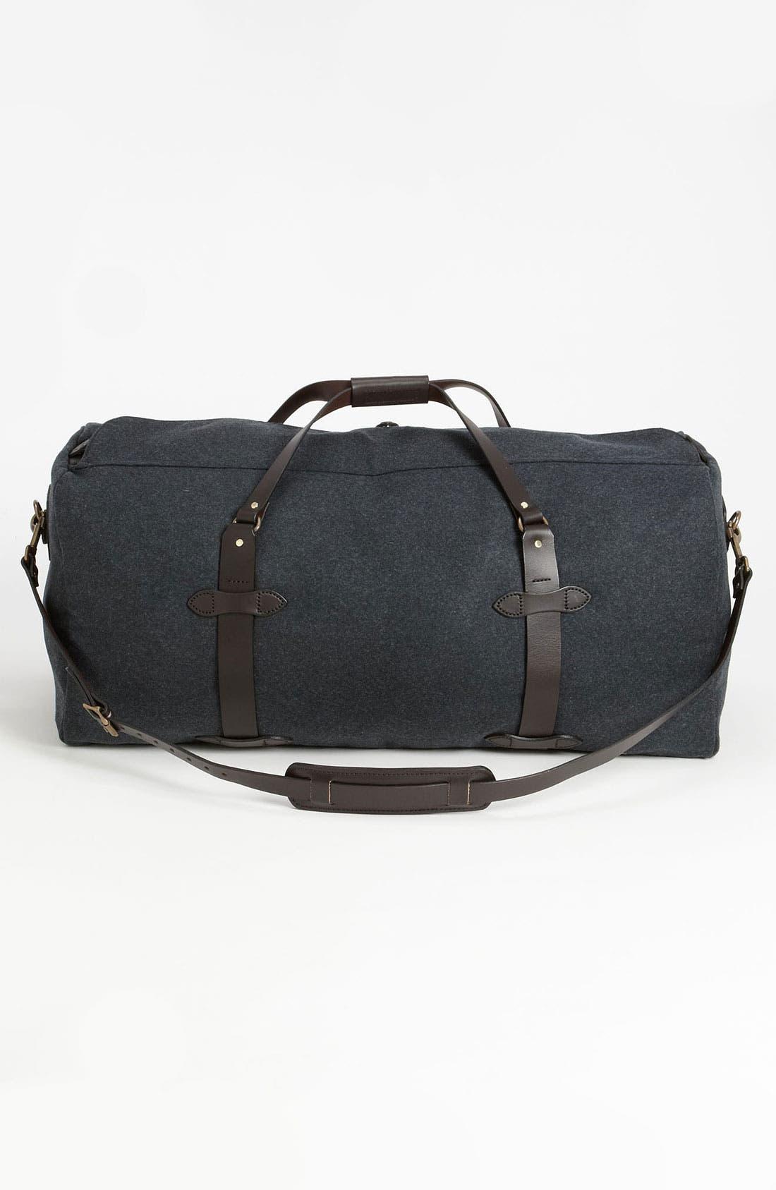 Large Wool Duffel Bag,                             Alternate thumbnail 2, color,                             Charcoal
