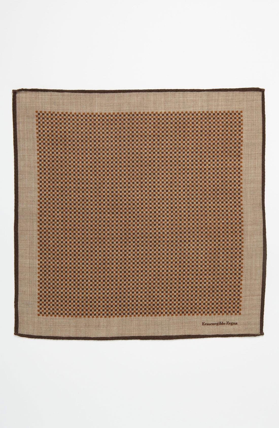 Alternate Image 2  - Ermenegildo Zegna Wool Pocket Square