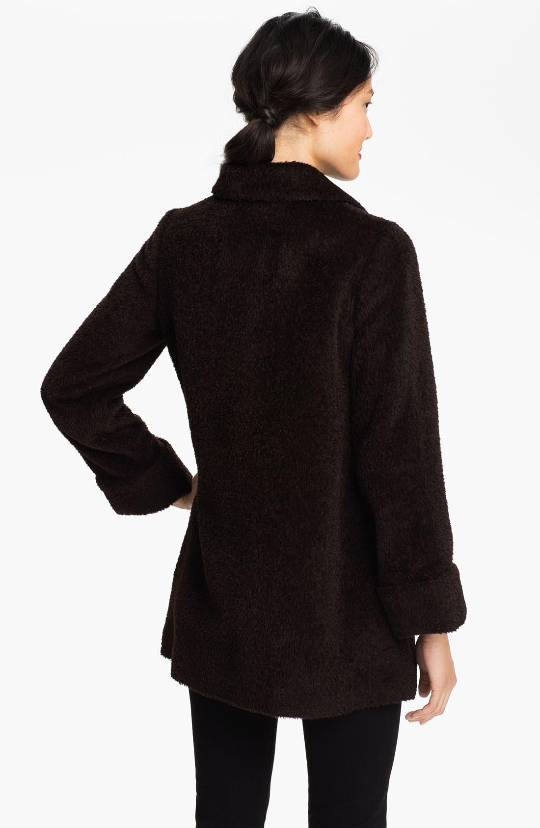 Alternate Image 2  - Trina Turk Alpaca Blend Coat (Petite)