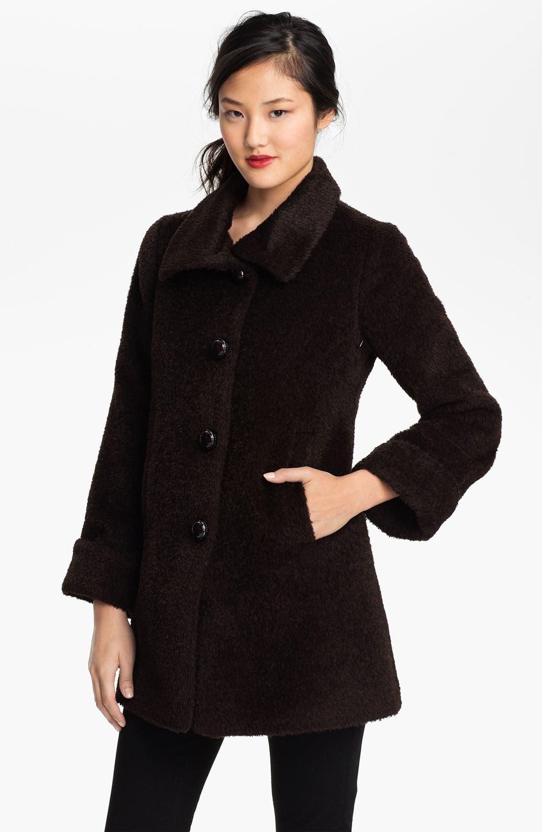 Alternate Image 1 Selected - Trina Turk Alpaca Blend Coat (Petite)