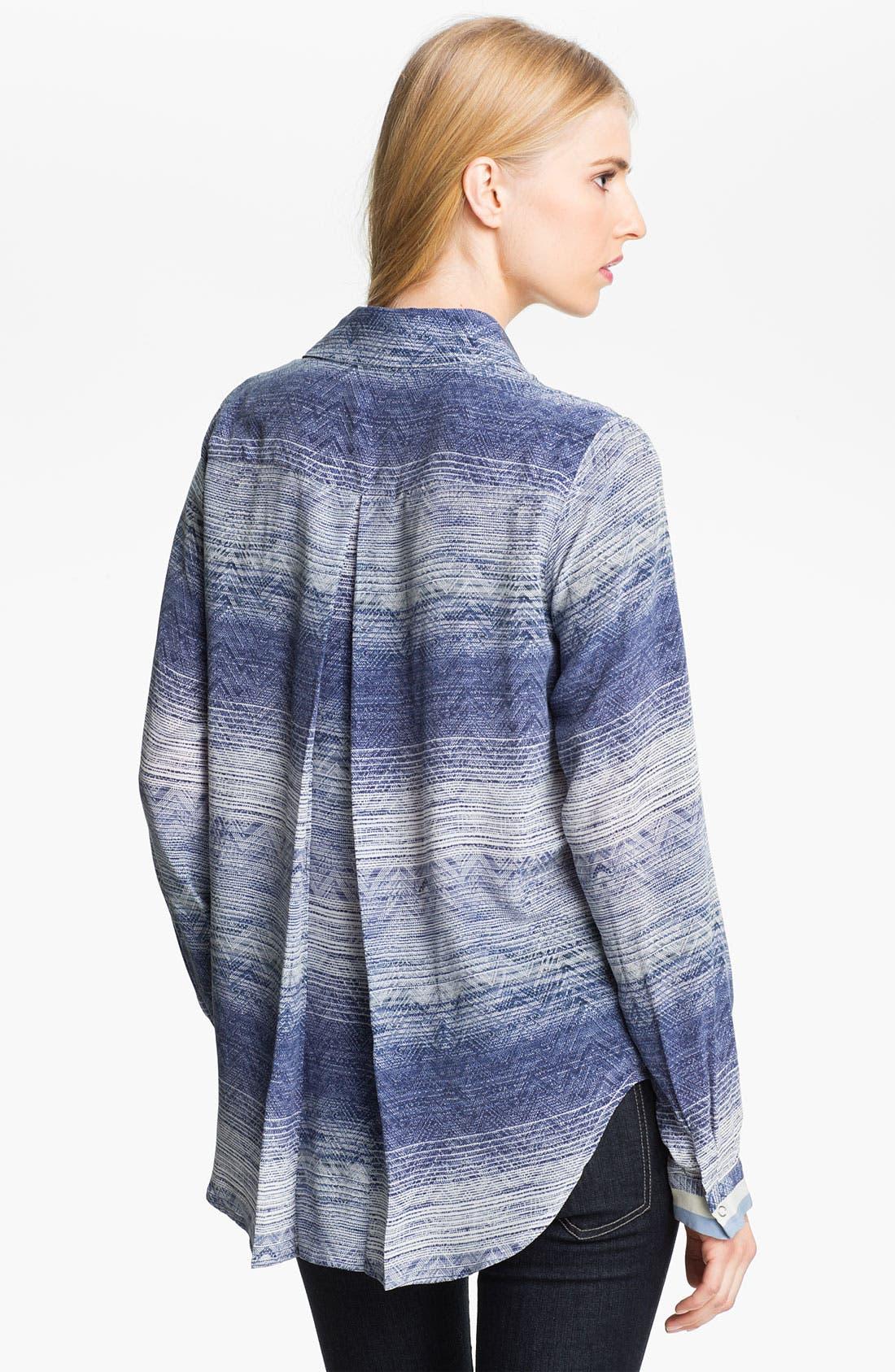 Alternate Image 2  - L'AGENCE Print Silk Shirt