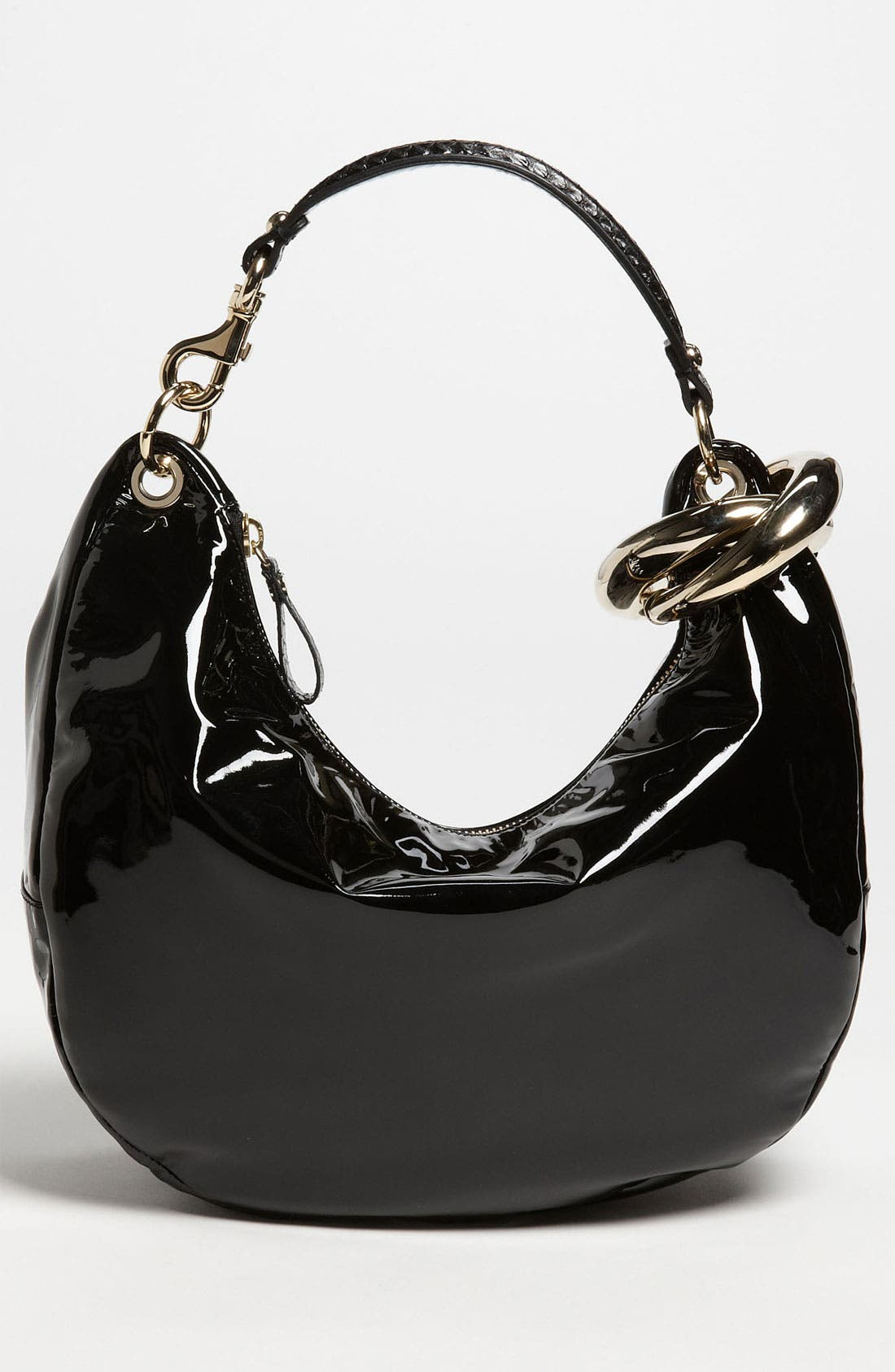 Alternate Image 1 Selected - Jimmy Choo 'Solar - Small' Patent Leather Hobo