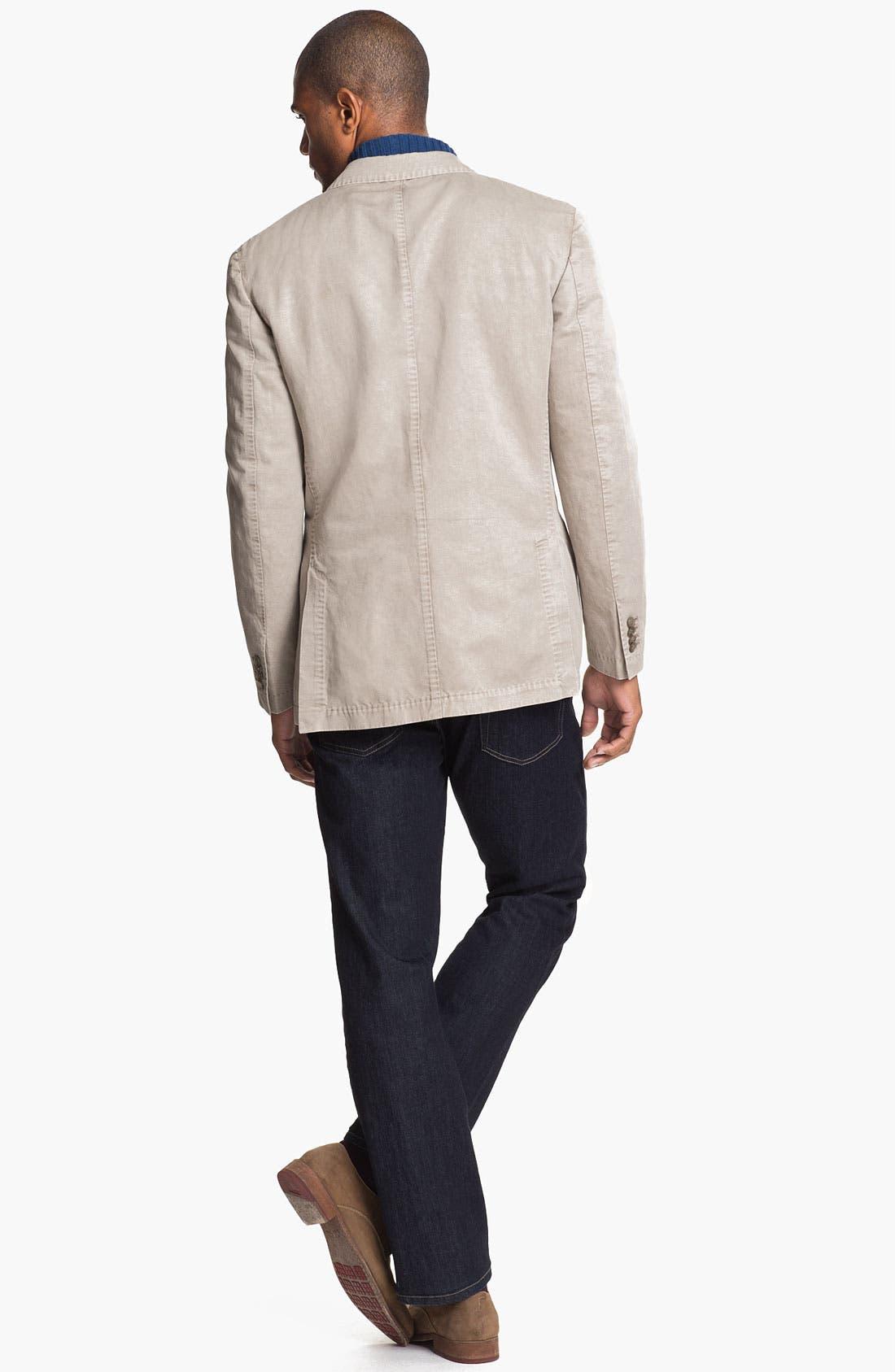 Alternate Image 5  - Robert Talbott Half Zip Cotton & Cashmere Sweater