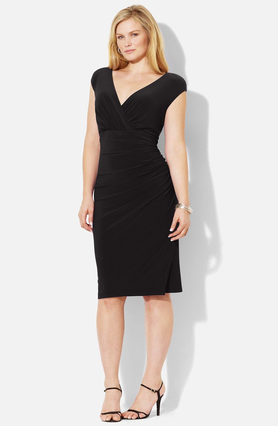 Main Image - Lauren Ralph Lauren Matte Jersey Dress (Plus)