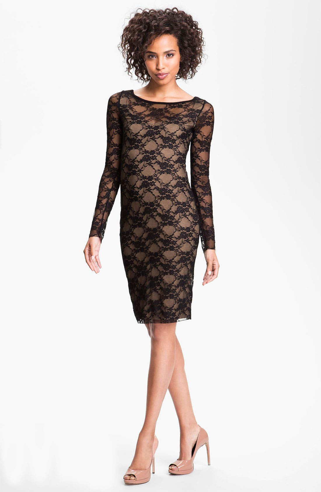 Alternate Image 1 Selected - B44 Dressed by Bailey 44 'Extra Credit' Lace Sheath Dress