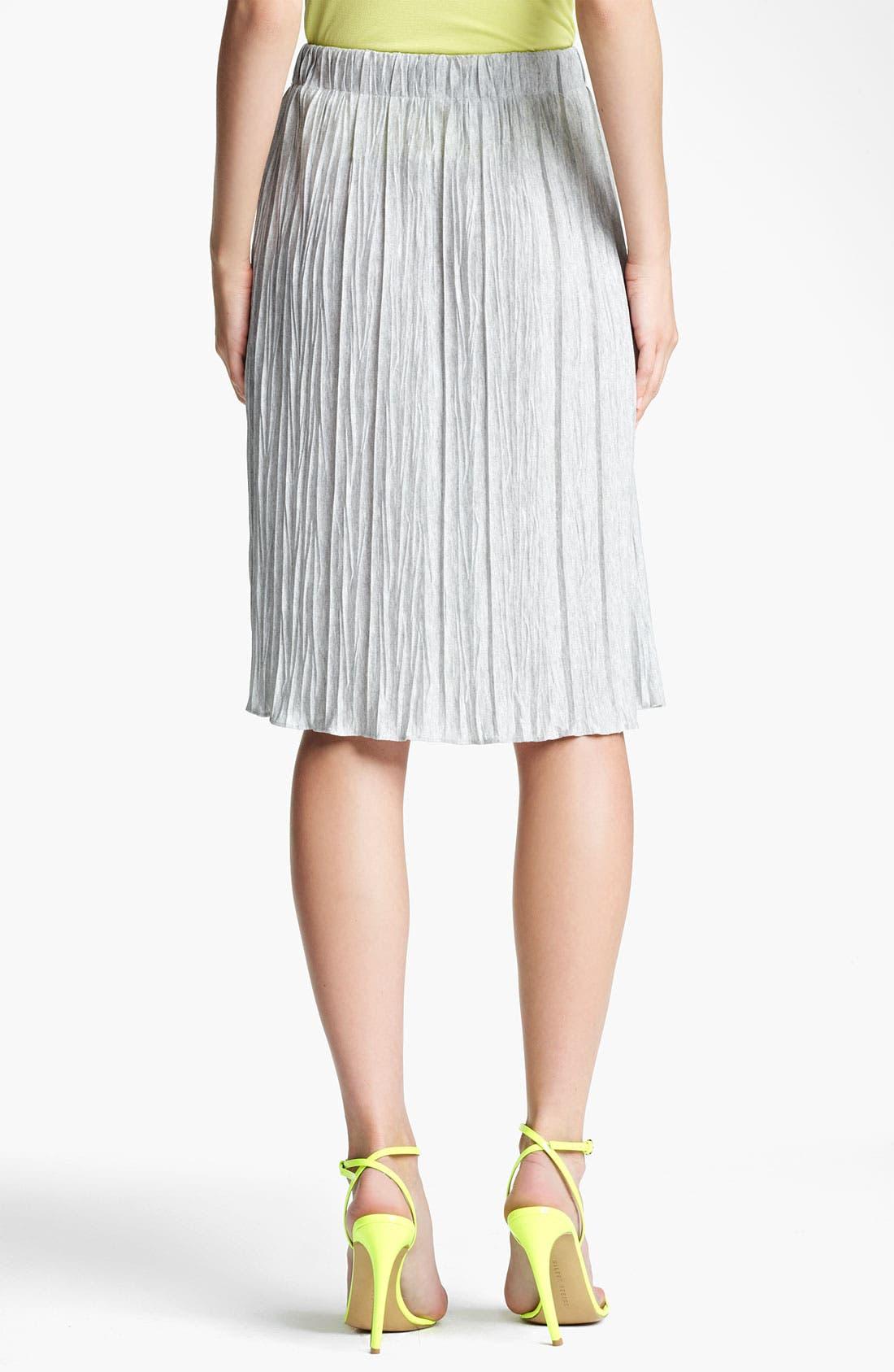 Alternate Image 2  - Lida Baday Plissé Stretch Jersey Skirt