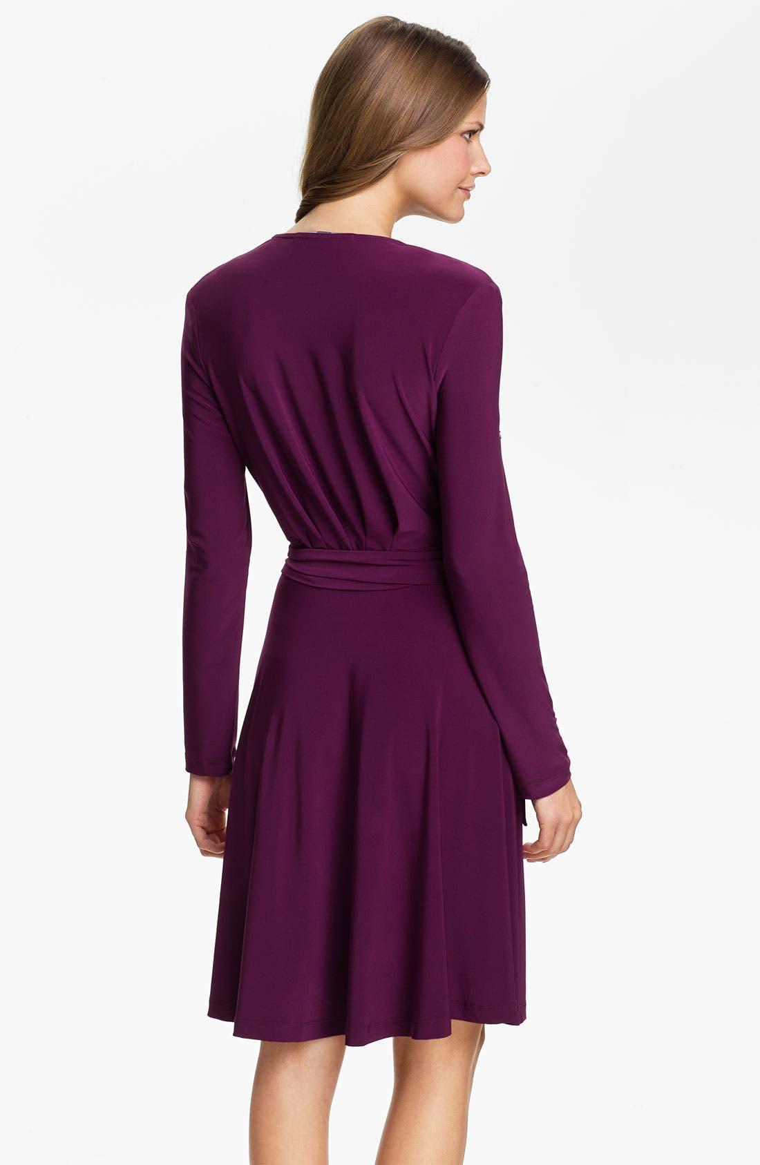 Alternate Image 2  - Alex & Ava Long Sleeve Jersey Wrap Dress
