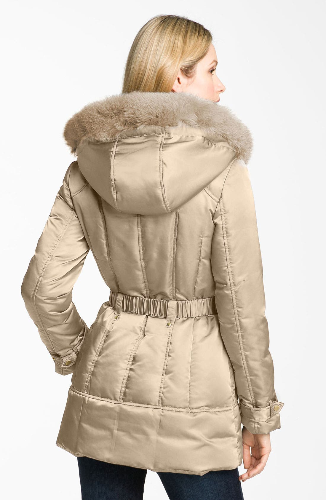 Alternate Image 2  - 1 Madison Genuine Fox Fur Trim Down Jacket (Online Exclusive)