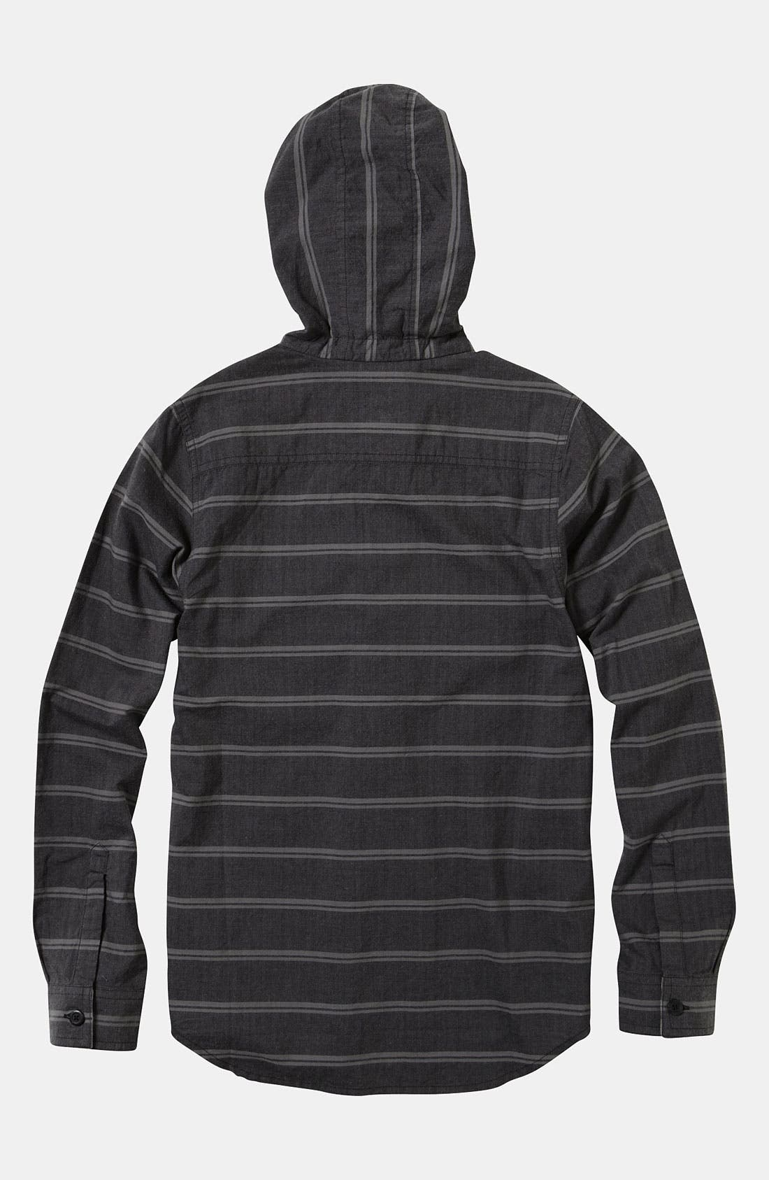 Alternate Image 2  - Quiksilver 'Lunch Stoke' Hooded Shirt (Big Boys)