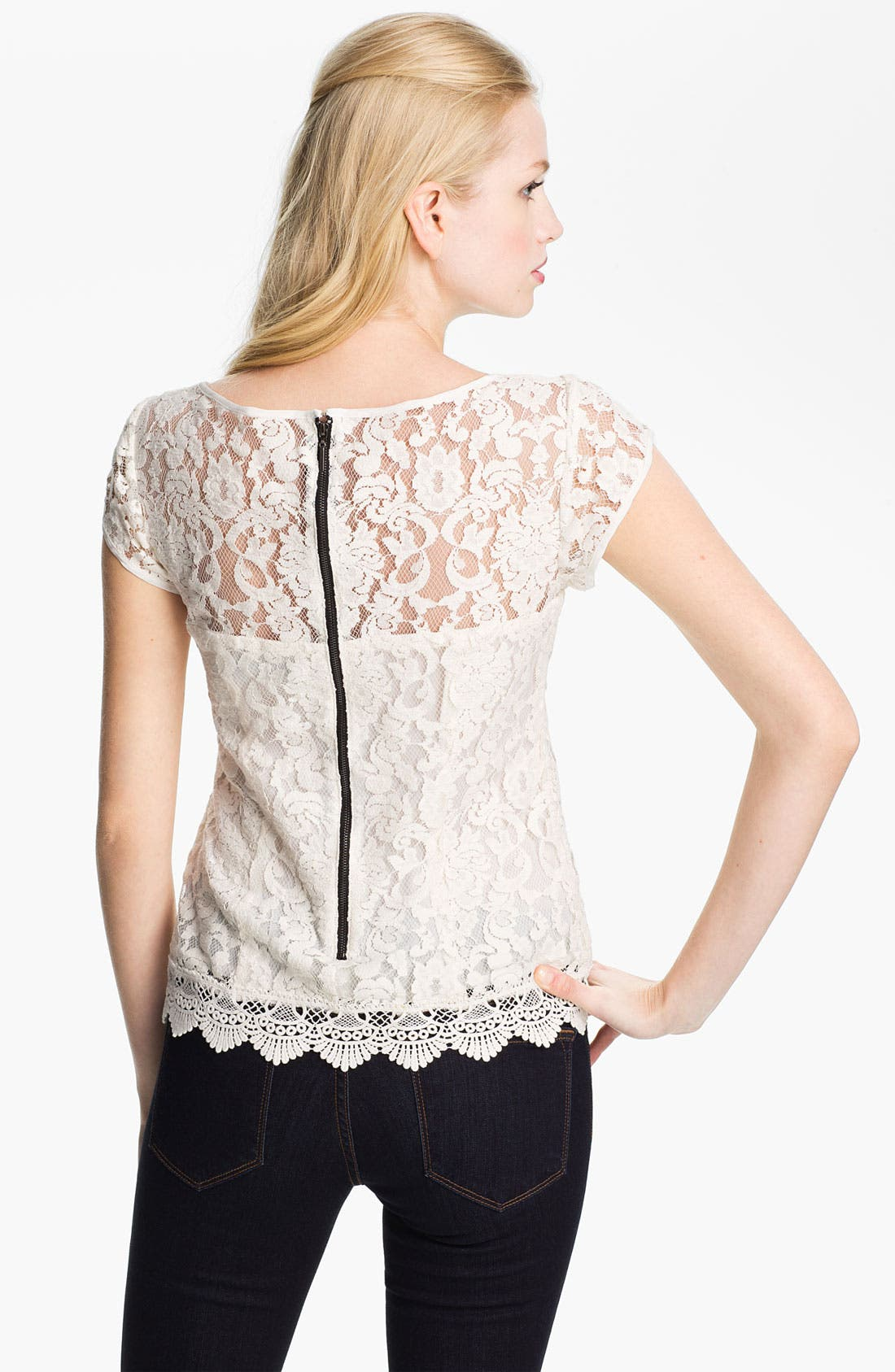 Alternate Image 2  - Nanette Lepore 'Good Fortune' Lace Top