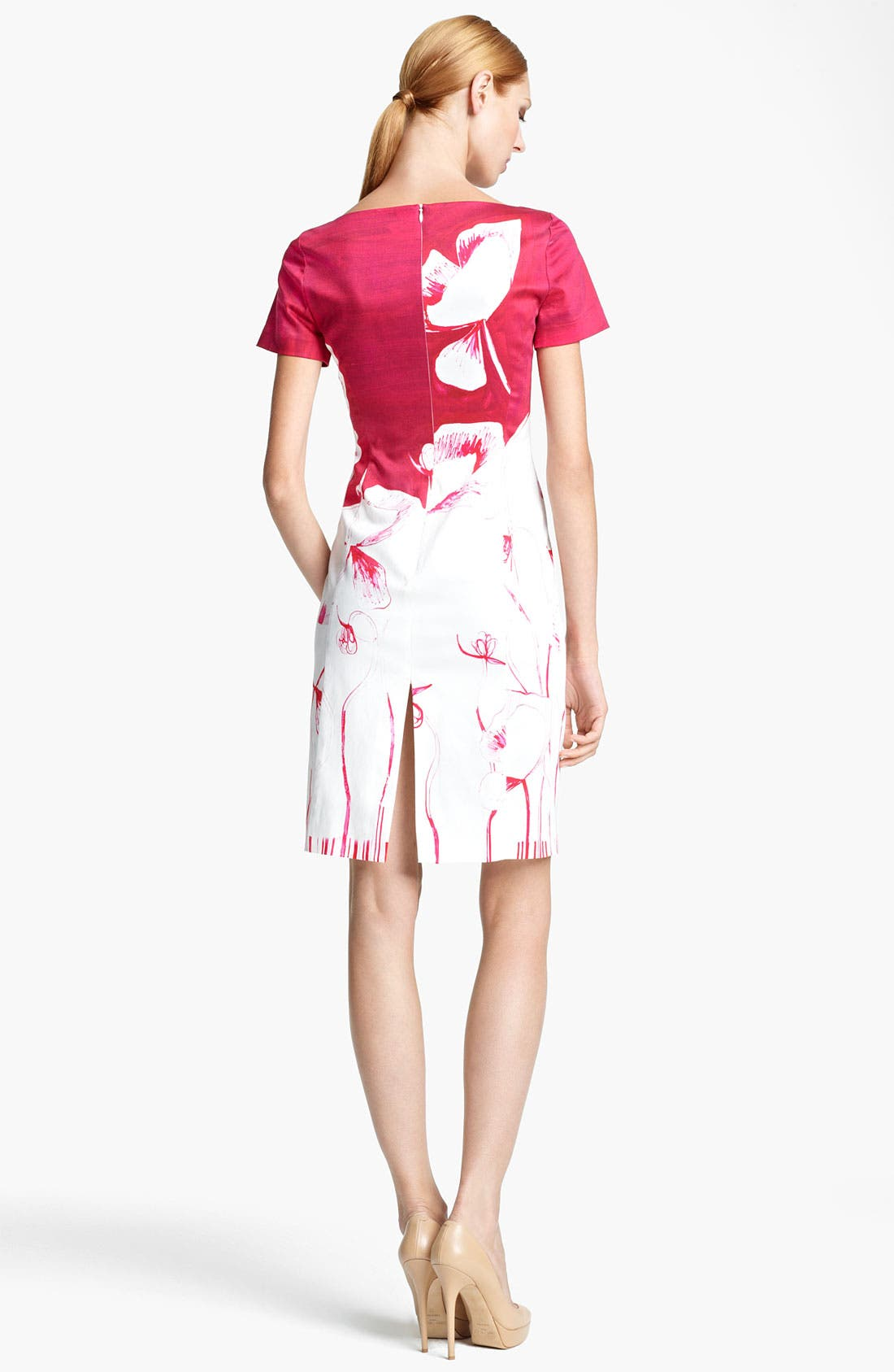 Alternate Image 2  - Piazza Sempione Poppy Print Stretch Cotton Dress