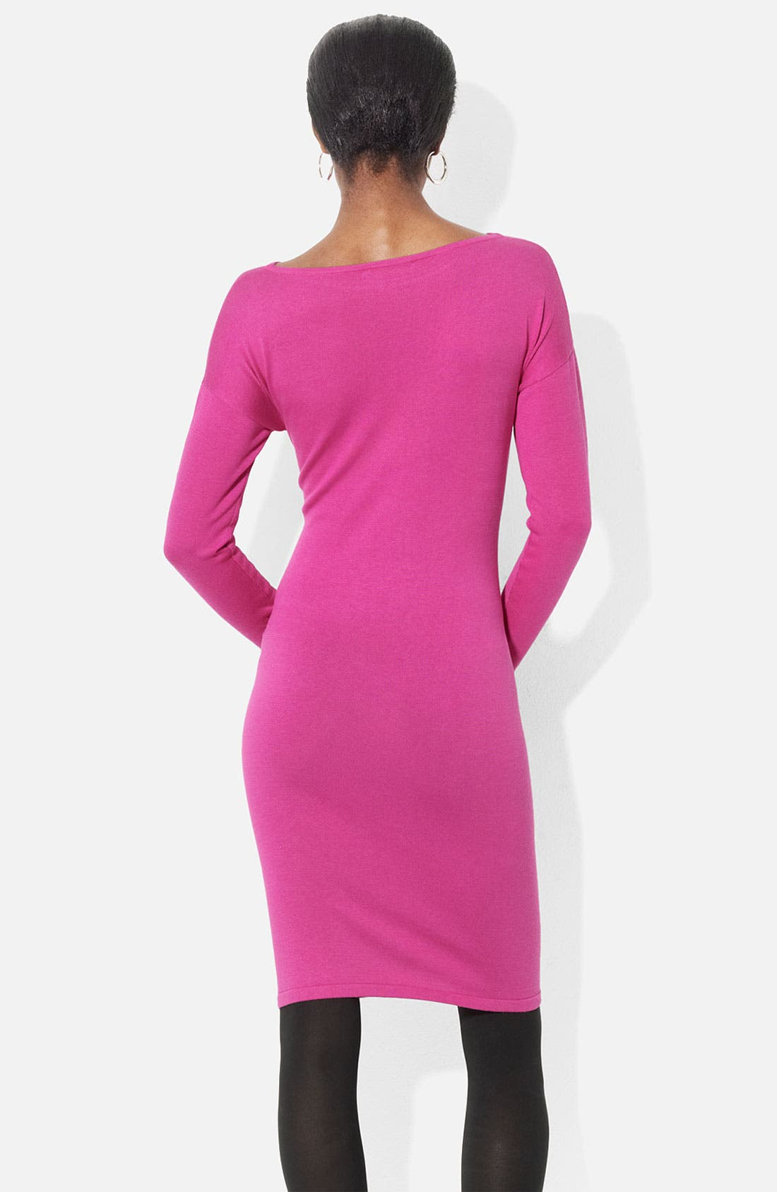 Alternate Image 2  - Lauren Ralph Lauren Bateau Neck Merino Knit Dress (Petite)