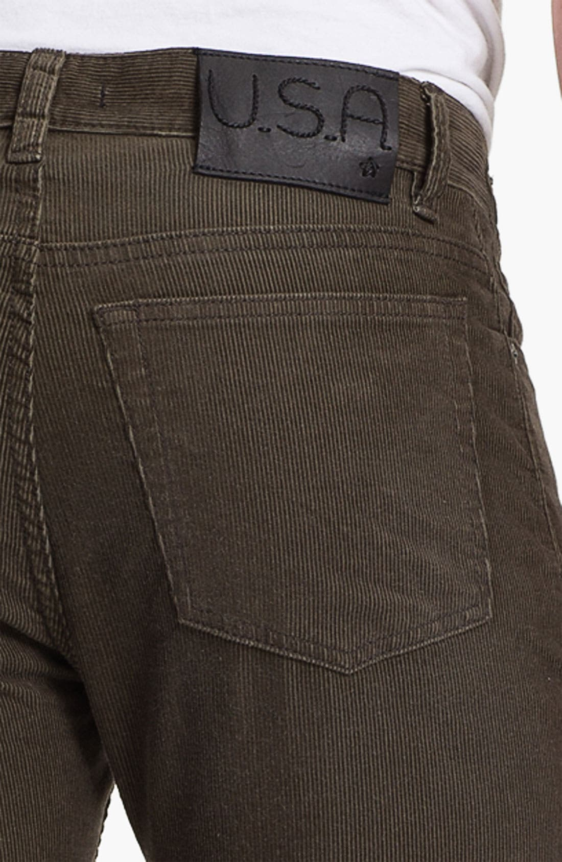 Alternate Image 3  - John Varvatos Star USA 'Bowery' Slim Straight Leg Corduroy Pants