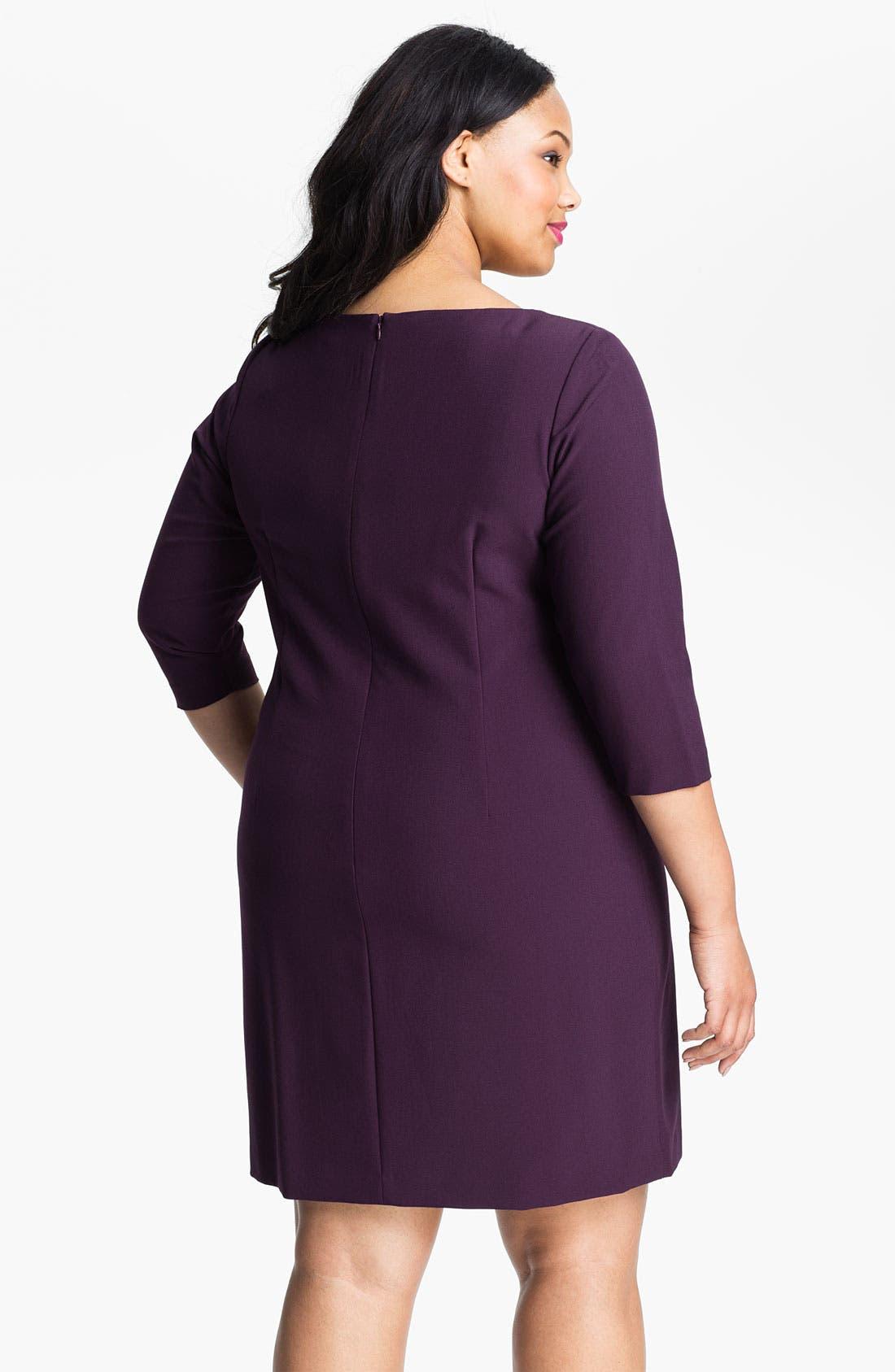Alternate Image 2  - Eliza J Starburst Pleat Jersey Dress (Plus)