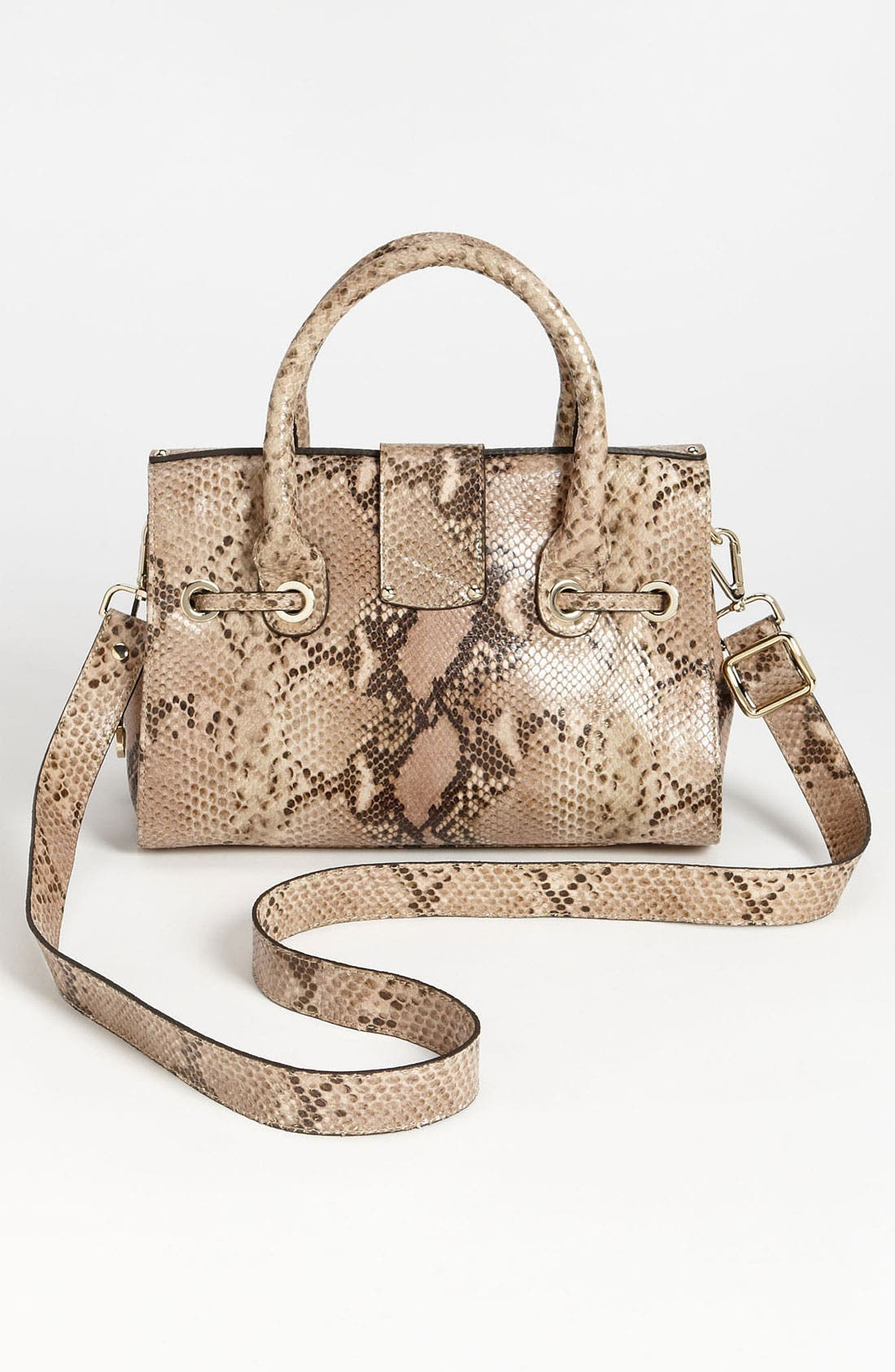 Alternate Image 4  - Jimmy Choo 'Rosalie' Snake Embossed Leather Satchel