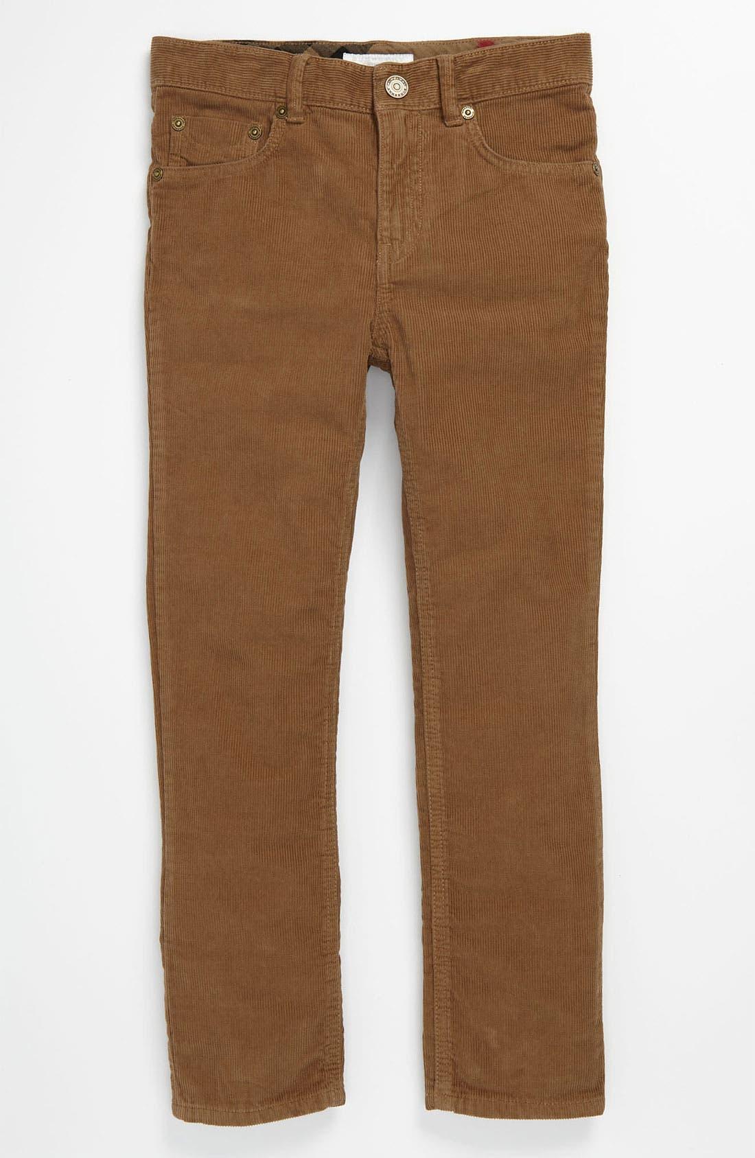 Alternate Image 2  - Burberry Corduroy Pants (Little Boys)