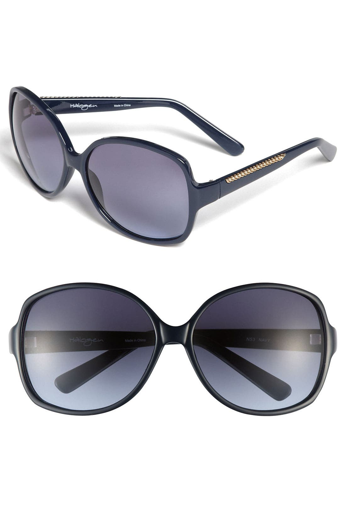 Main Image - Halogen® 64mm Oversized Sunglasses