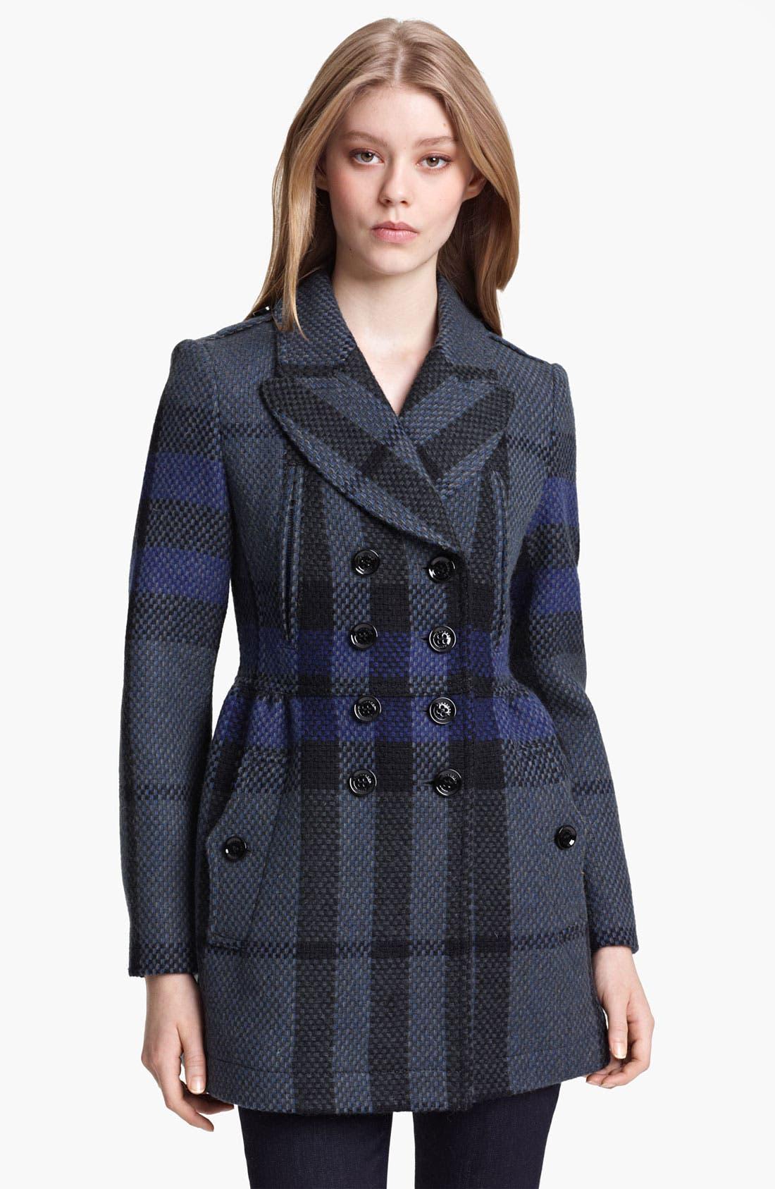 Alternate Image 1 Selected - Burberry Brit Wool Peacoat