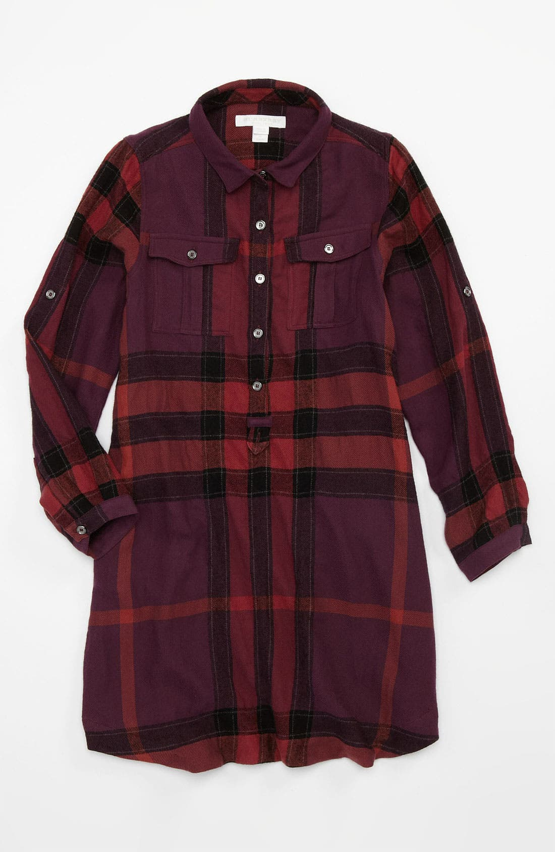 Alternate Image 1 Selected - Burberry Check Print Shirtdress (Little Girls & Big Girls)