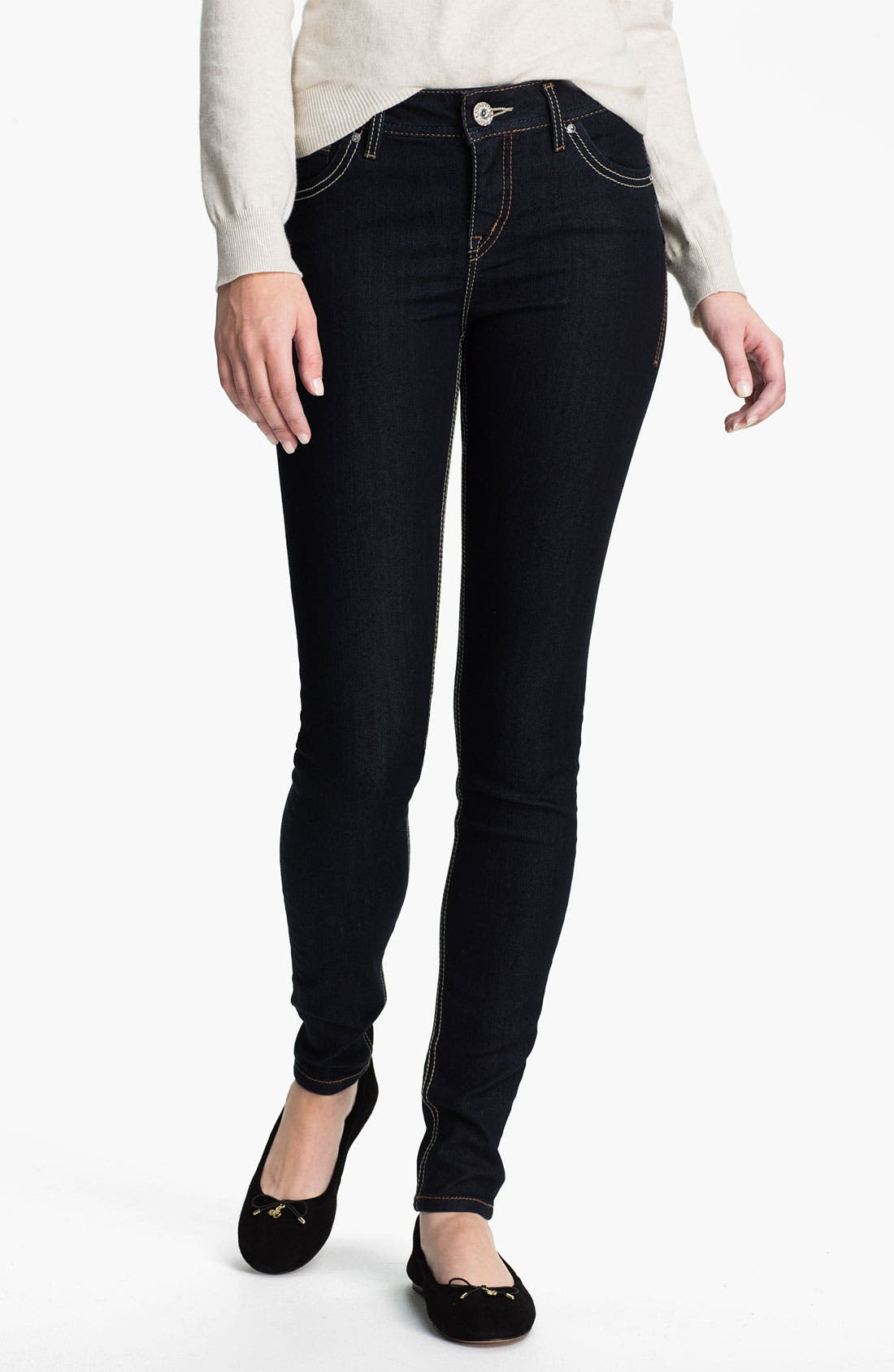 Alternate Image 2  - Silver Jeans Co. Skinny Jeans (Juniors)