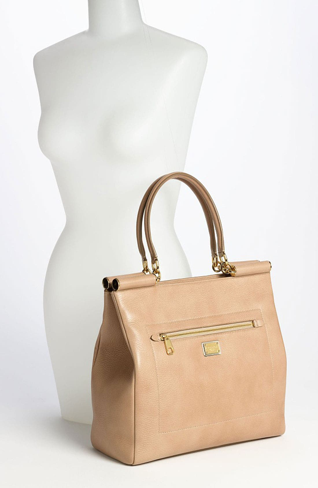 Alternate Image 2  - Dolce&Gabbana 'Miss Sicily' Leather Shopper